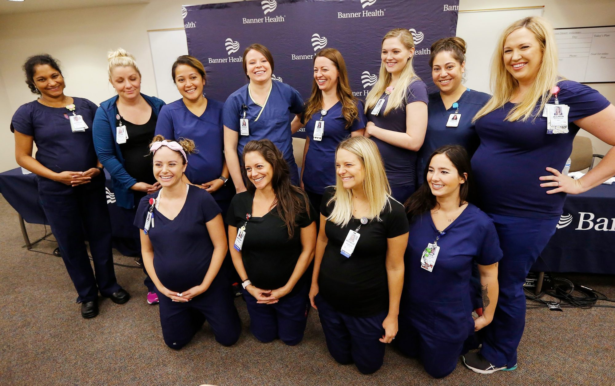 Pregnant Nurses, Mesa, USA - 17 Aug 2018