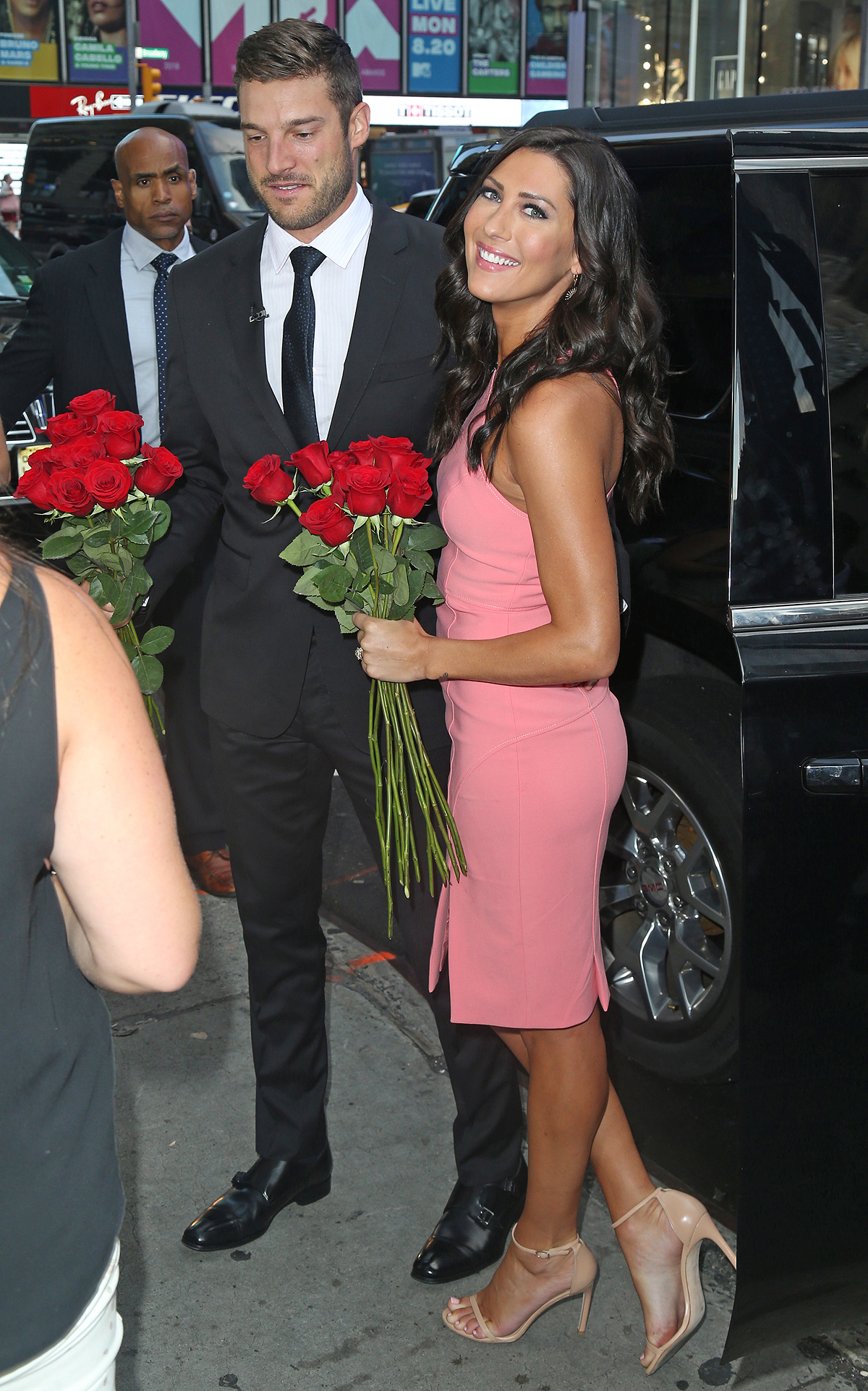 The Bachelorette Becca Kufrin and new Fiance Garrett Yrigoyen at 'GMA'