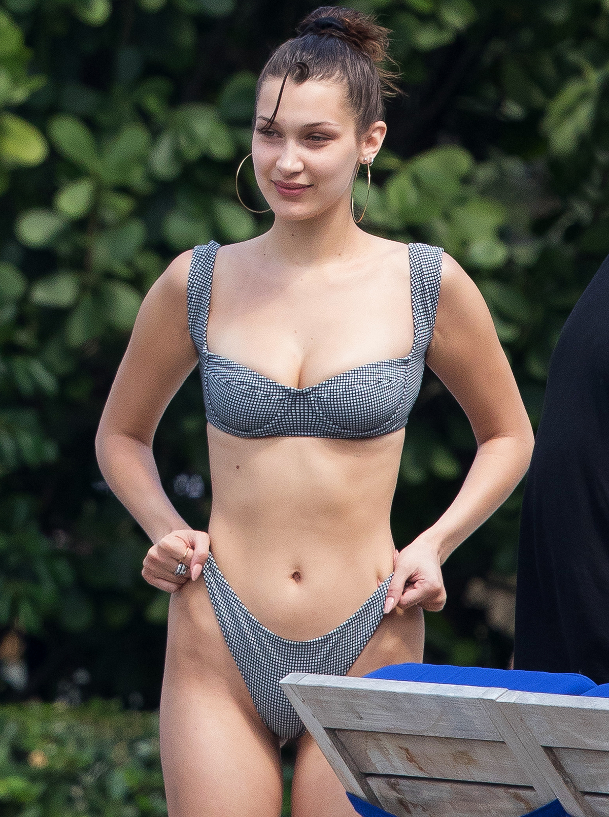 Bella Hadid and Hailey Baldwin wear bikinis in Miami.