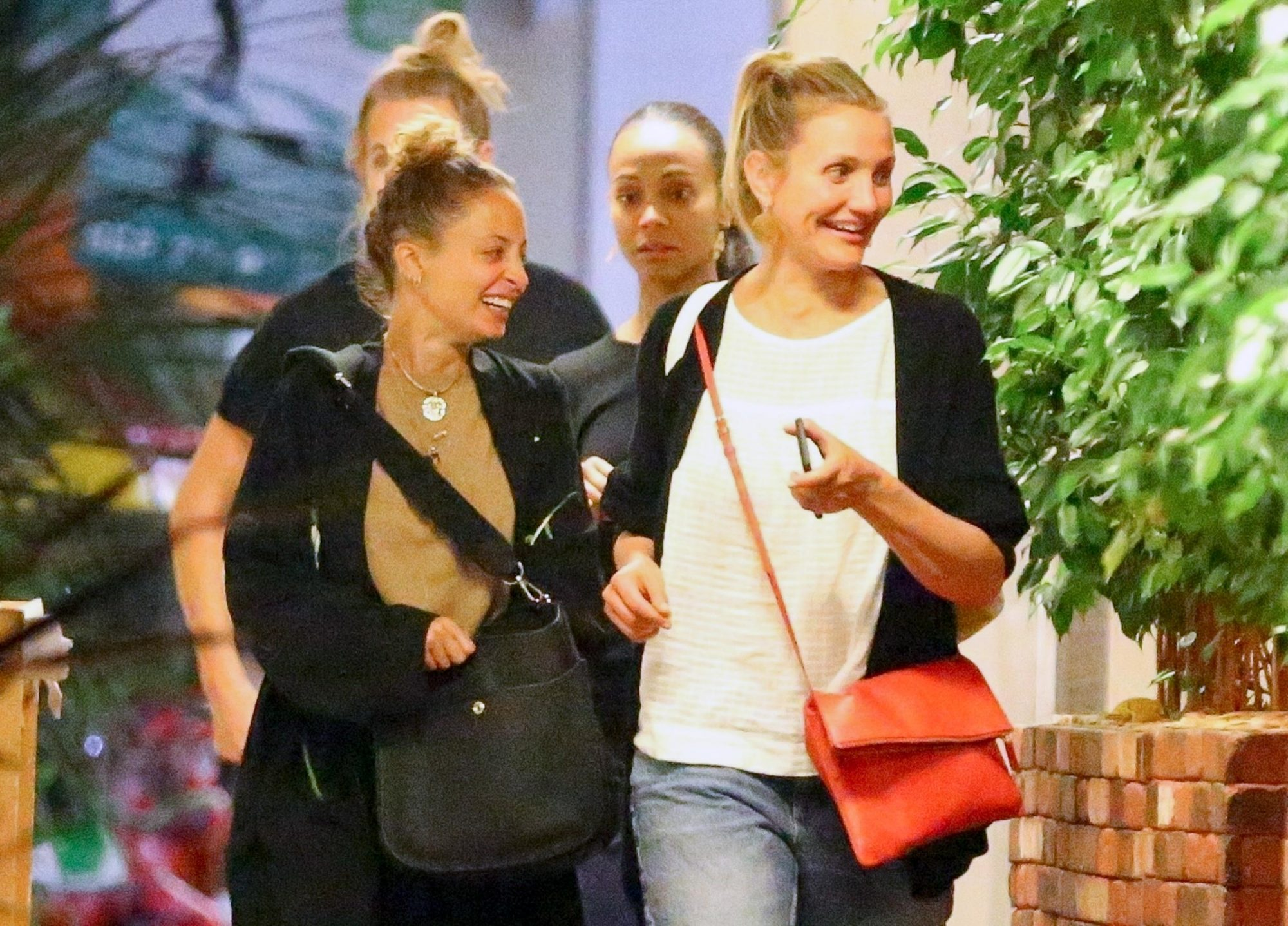 *EXCLUSIVE* Nicole Richie, Cameron Diaz, Zoe Saldana and Marco Perego enjoy a star-studded dinner outing in LA