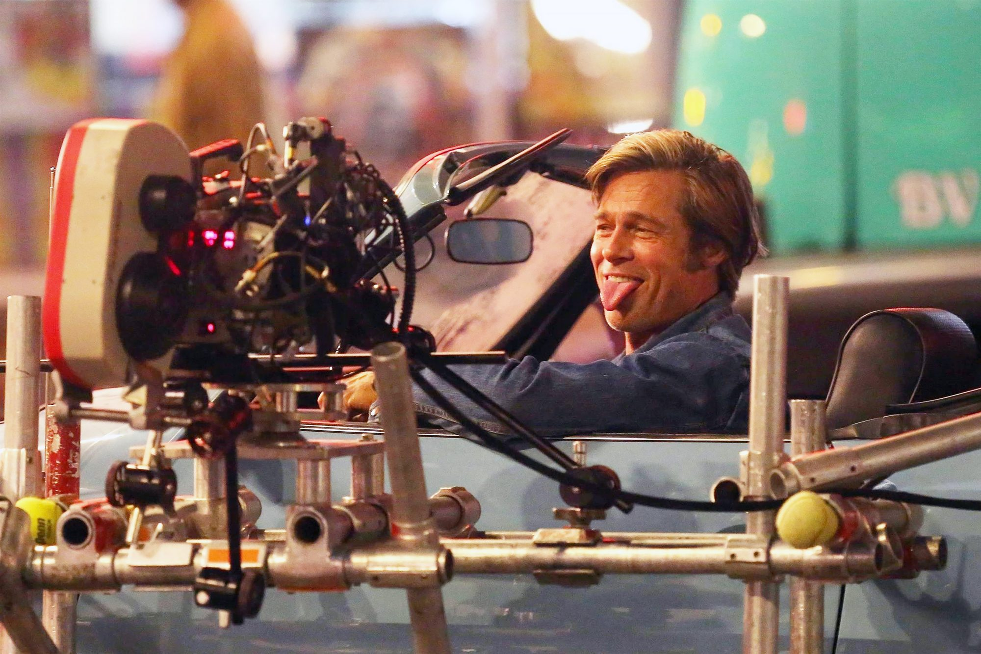 Brad Pitt and Leonardo DiCaprio back on the set of 'Once Upon a Time in Hollywood' in LA