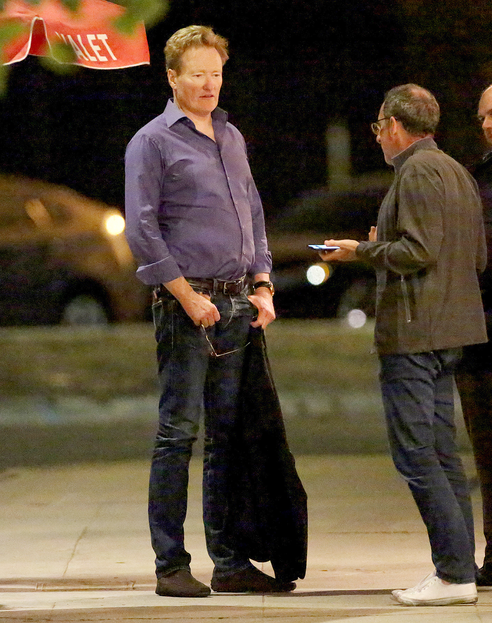 EXCLUSIVE: Conan O'Brien is Spotted Leaving an Italian Restaurant in Brentwood, California.