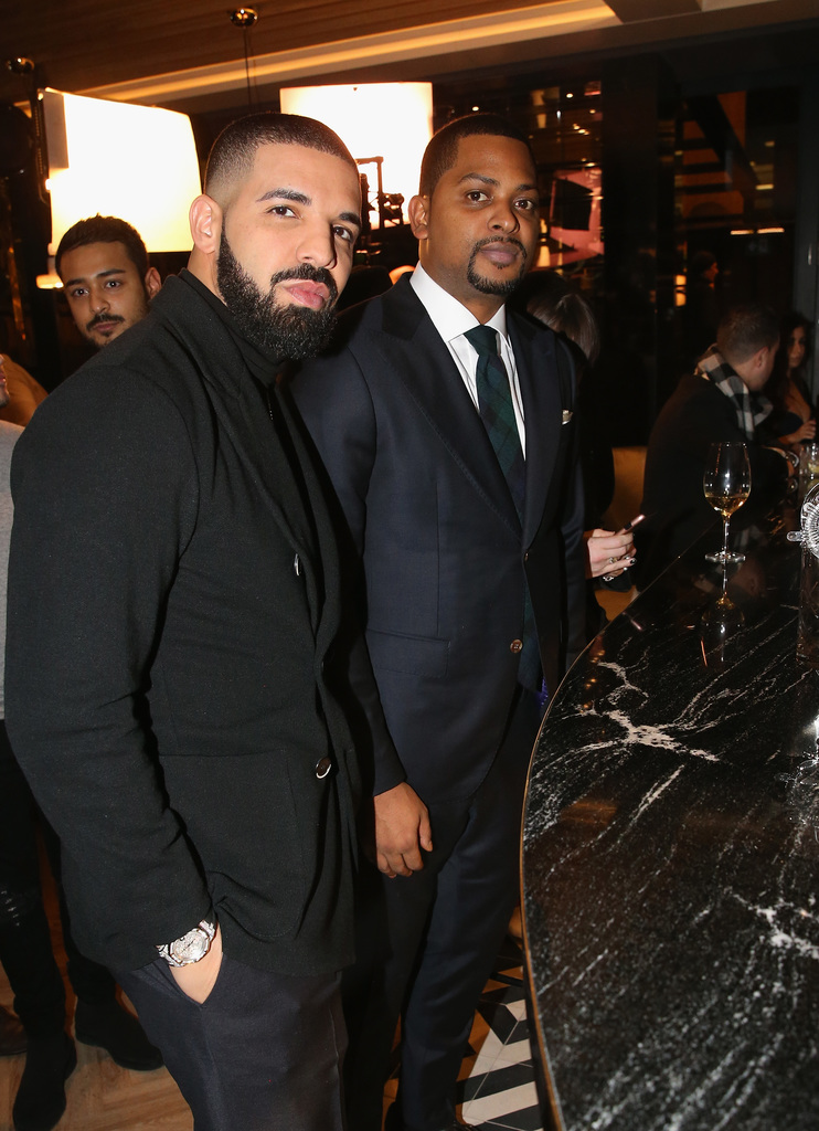 Drake and Chubbs attend as Drake And OVO Chubbs Host Friends and Family Event Of New Restaurant, Pick 6IX, With The House Of Remy Martin on January 10, 2018 in Toronto, Canada.[3]
