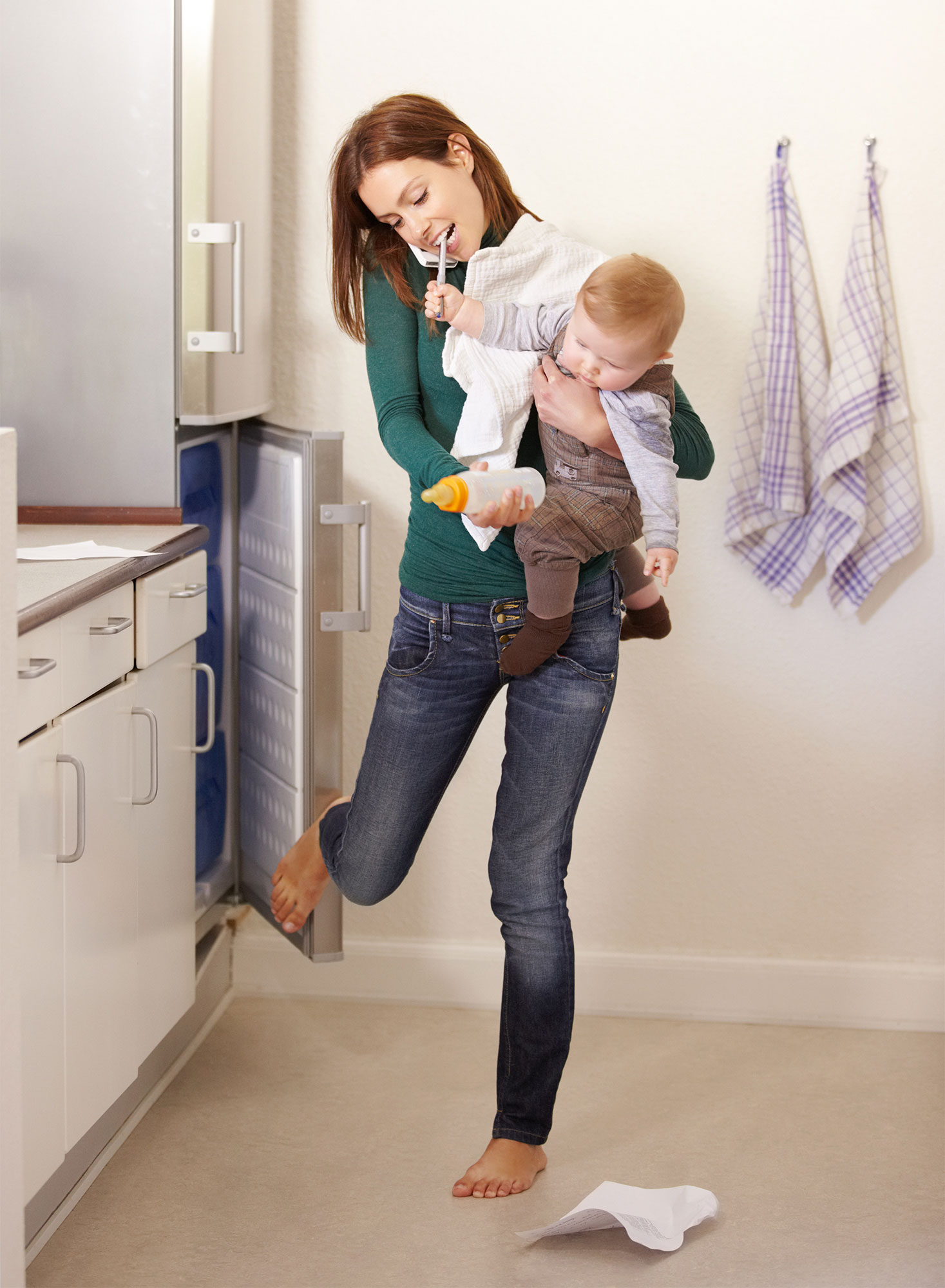 Being mom is a balancing act!