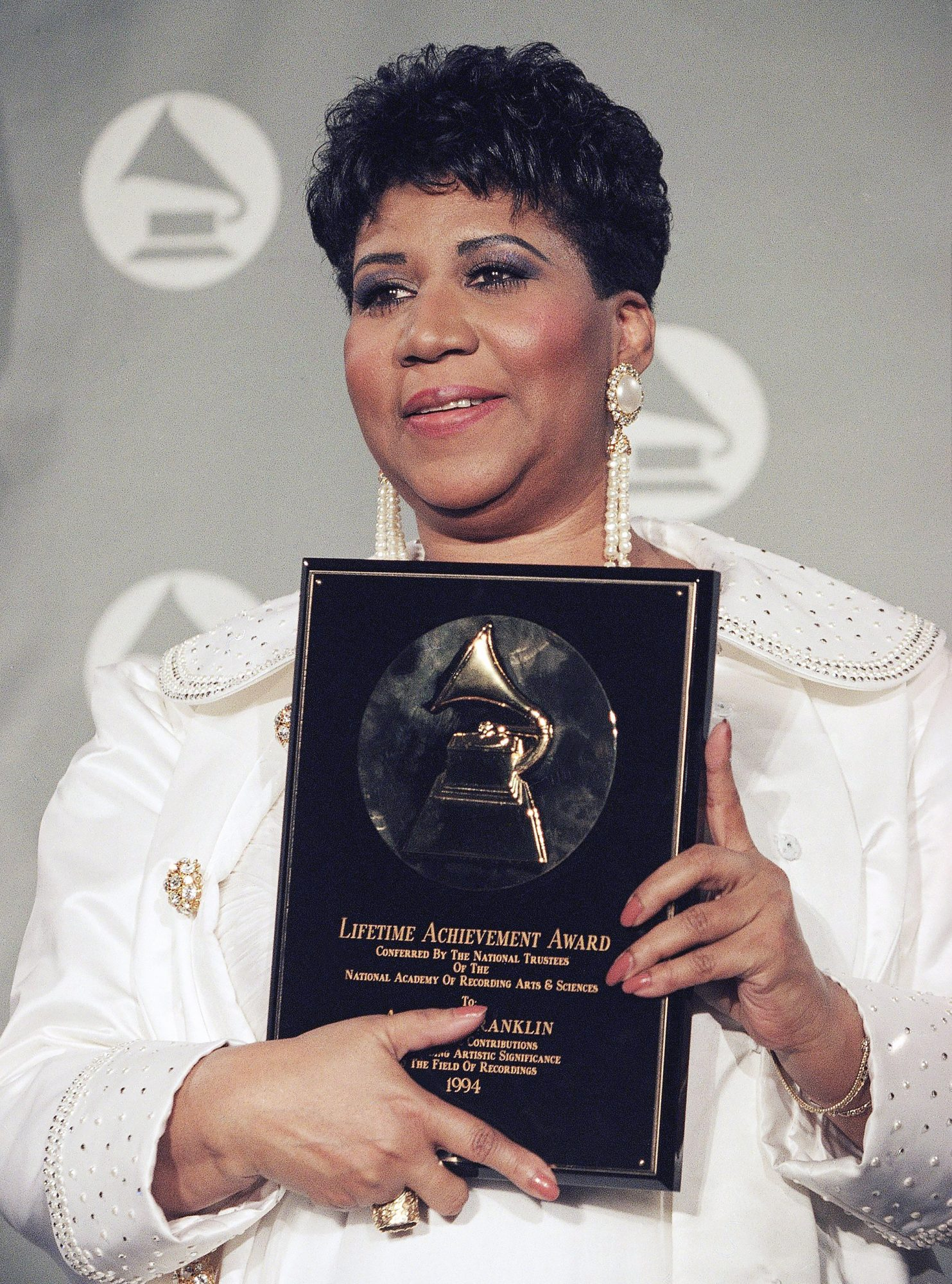 Grammys Aretha Franklin 1994, New York, USA