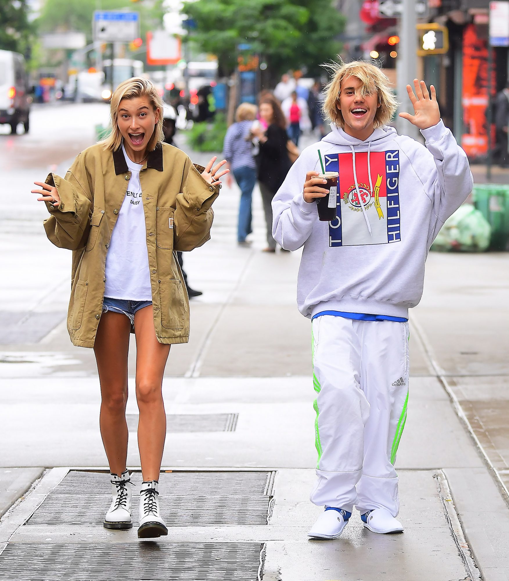 Justin Bieber and Hailey Baldwin Look Like a Happy Couple as they Grab Starbucks after Night Together in NYC