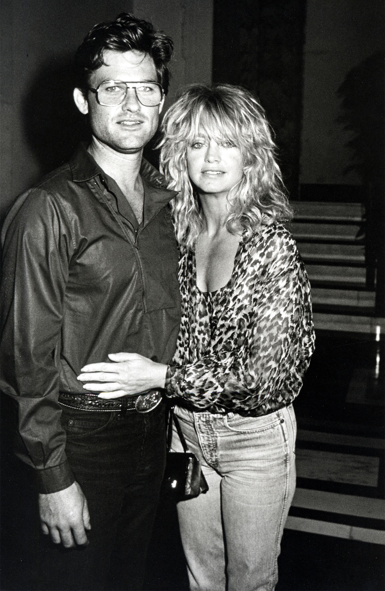 Goldie Hawn and Kurt Russell Sighting at the Carlyle Hotel - July 28, 1983
