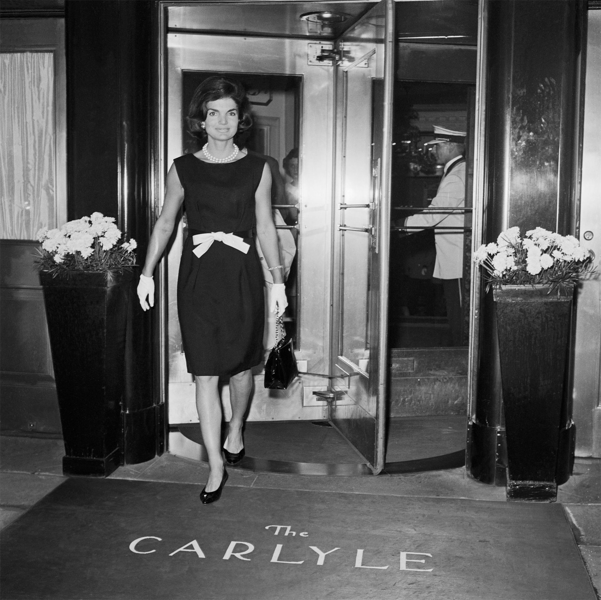 Jackie Kennedy Leaving Carlyle Hotel