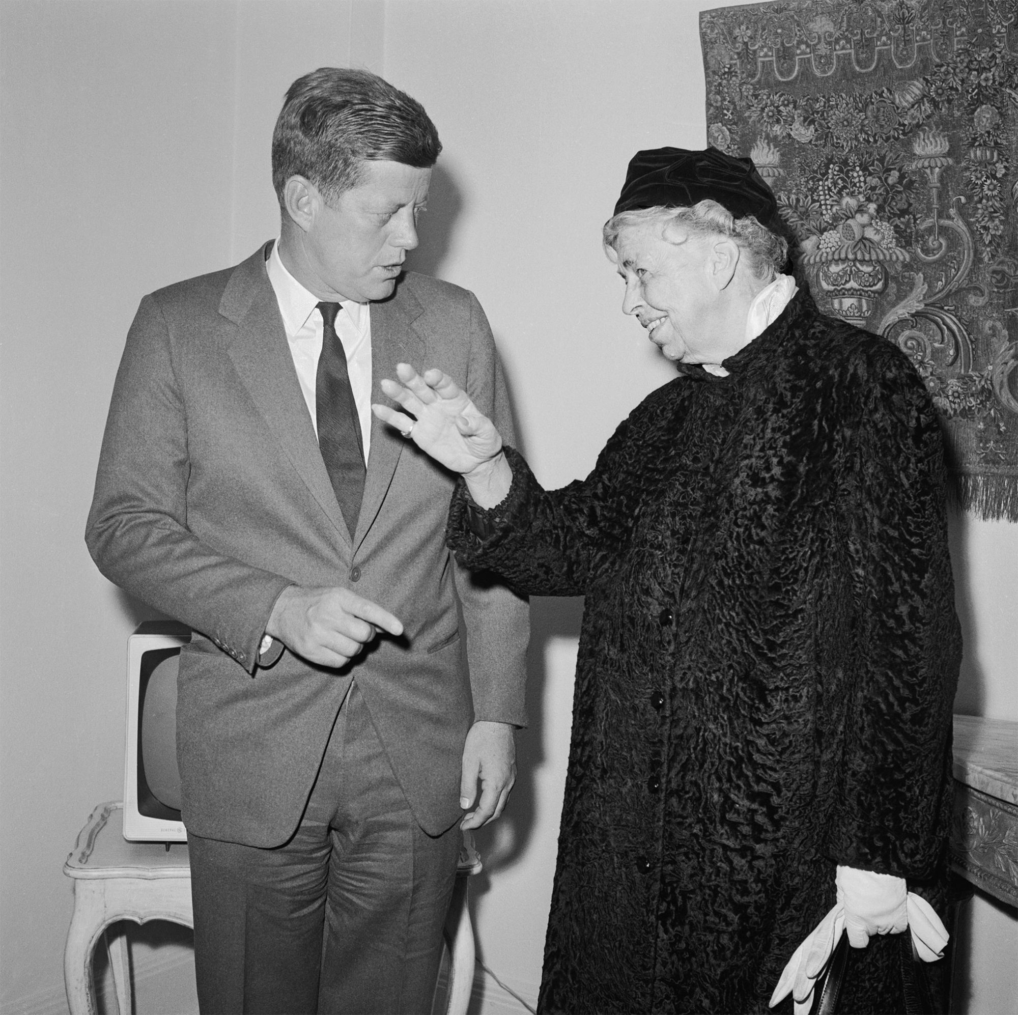 President-elect Kennedy with Eleanor Roosevelt