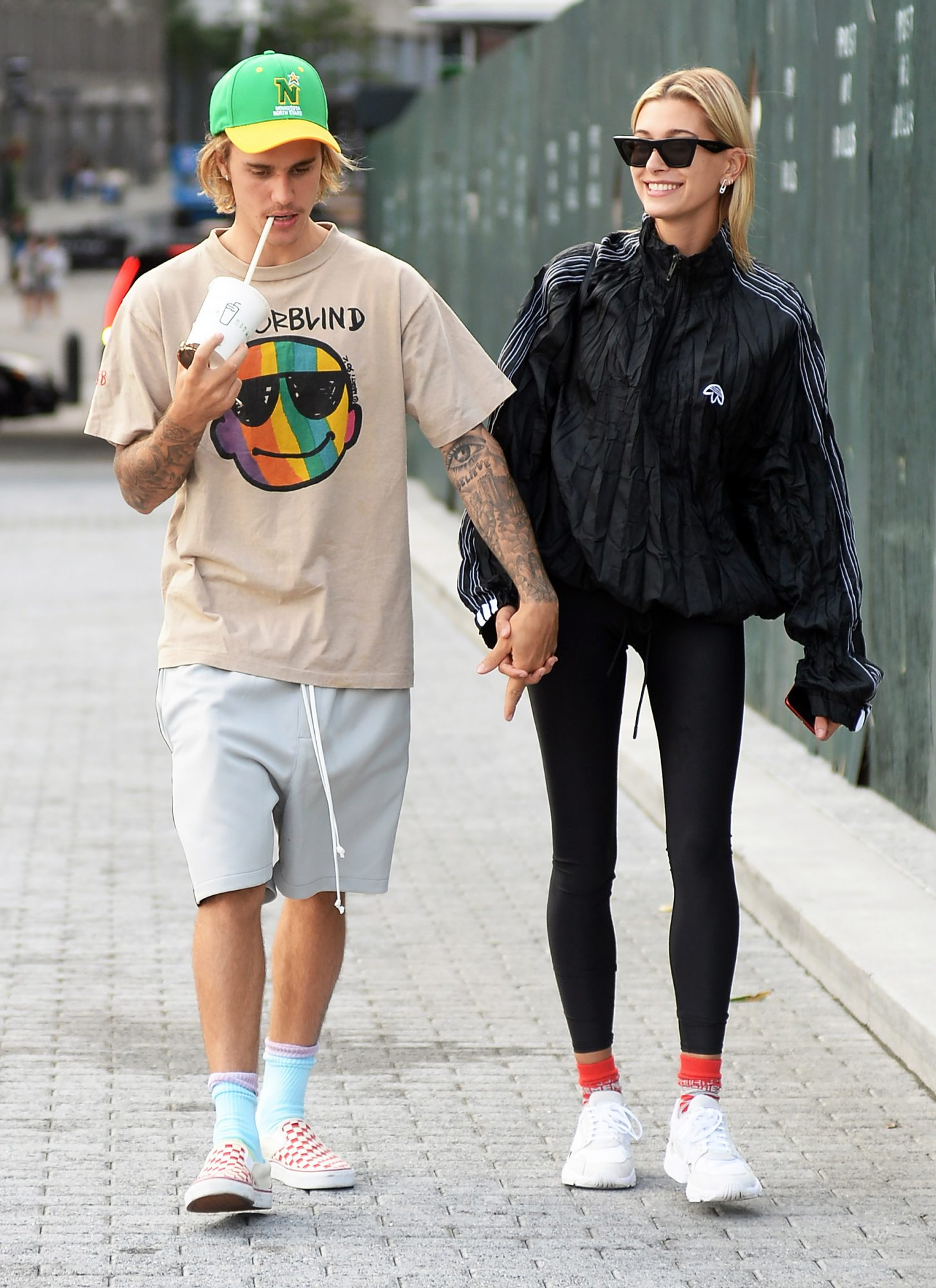 Justin Bieber takes his fiance Hailey Baldwin out for lunch and to see a movie today in New York City