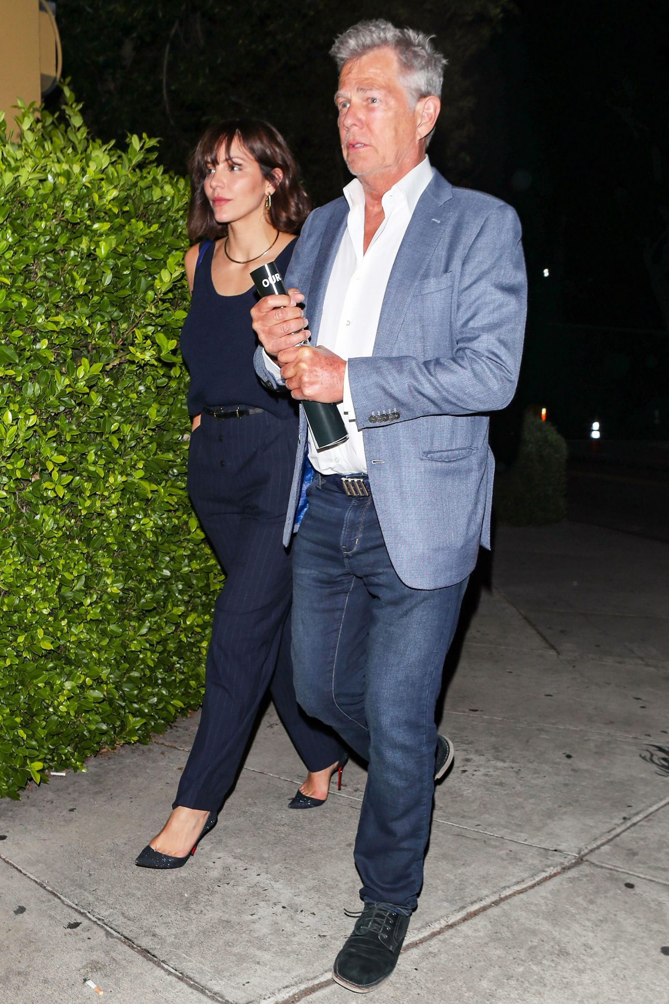 Katharine McPhee and David Foster out and about, Los Angeles, USA - 22 Aug 2018