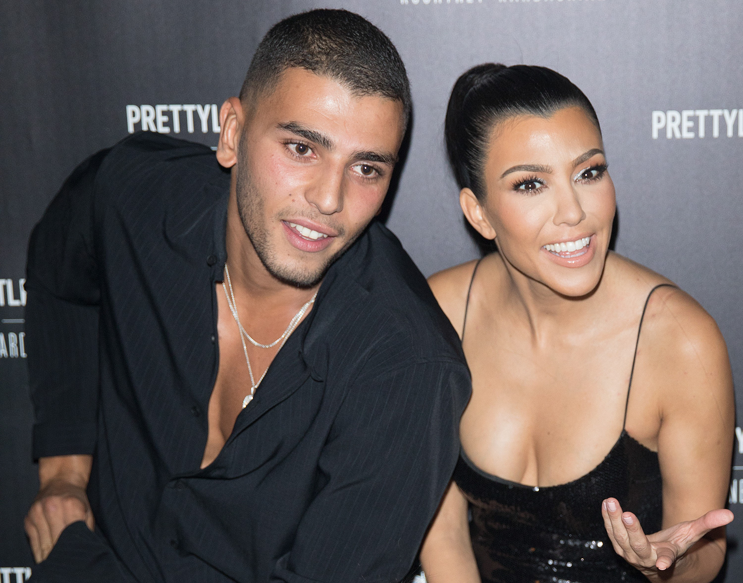 EXCLUSIVE: Kourtney Kardashian and her boyfriend Younes Bendjima are seen together inside Poppy in West Hollywood