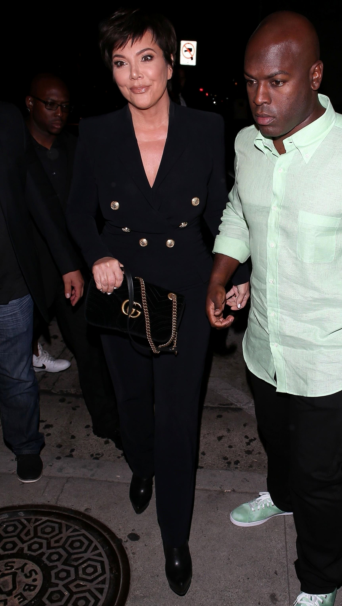 Kris Jenner and Corey Gamble at Craig's for Kylie's birthday