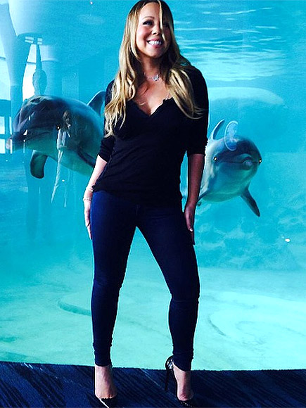 WHEN SHE MET DOLPHINS AT THE AQUARIUM