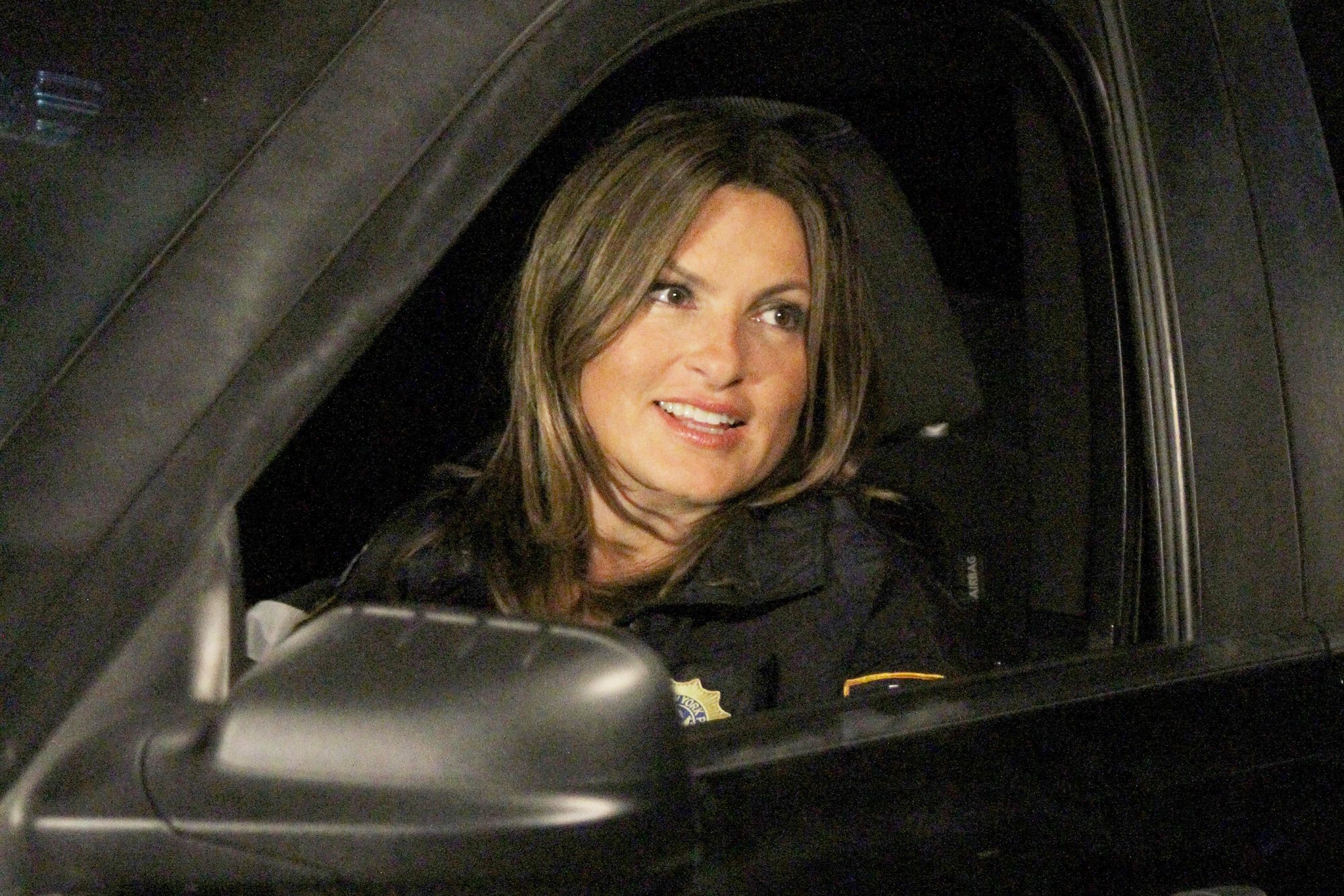 Mariska Hargitay, Ice-T and Peter Scanavino Filming Law & Order: Special Victims Unit