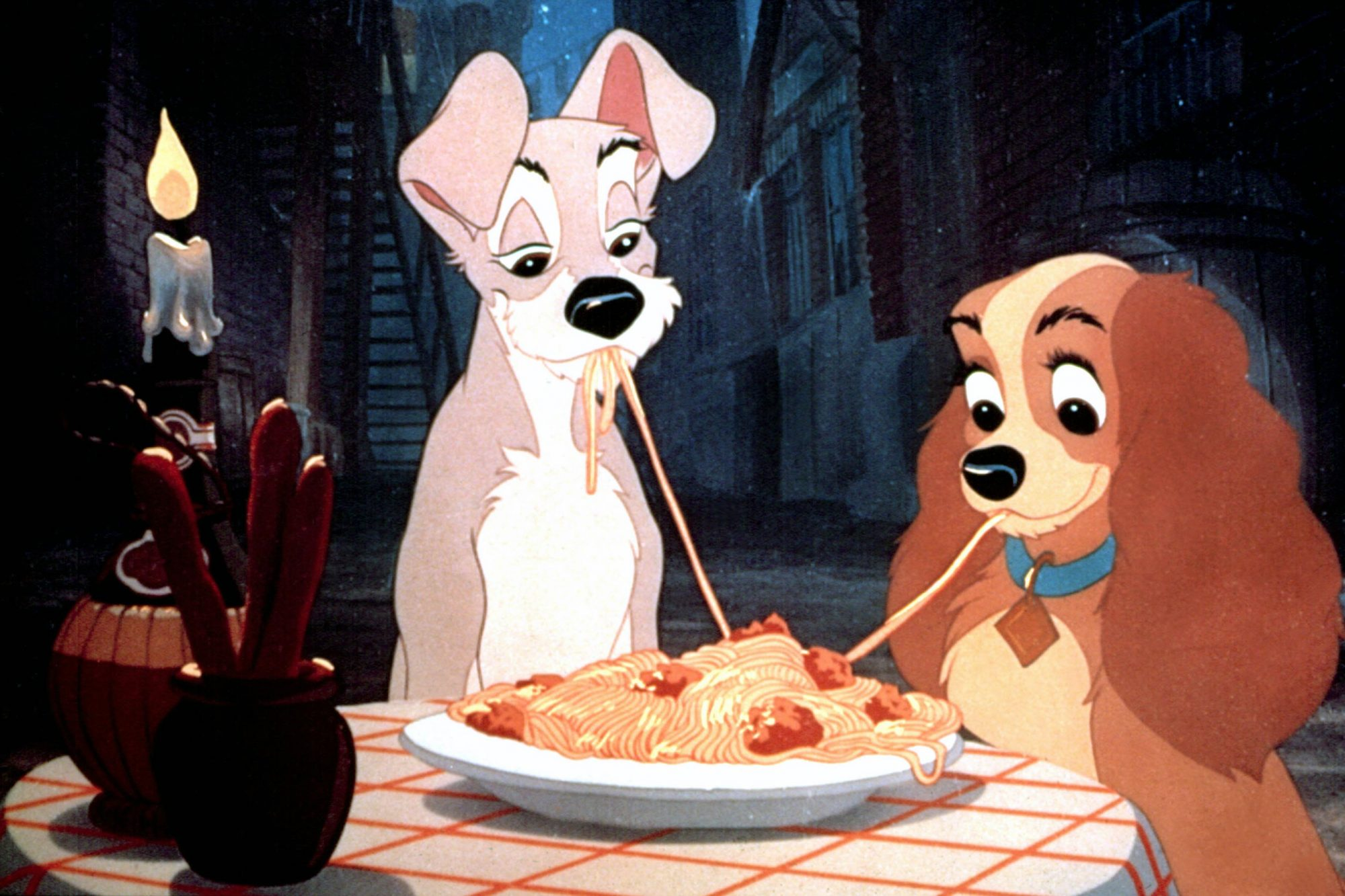 LADY AND THE TRAMP, Tramp, Lady, 1955