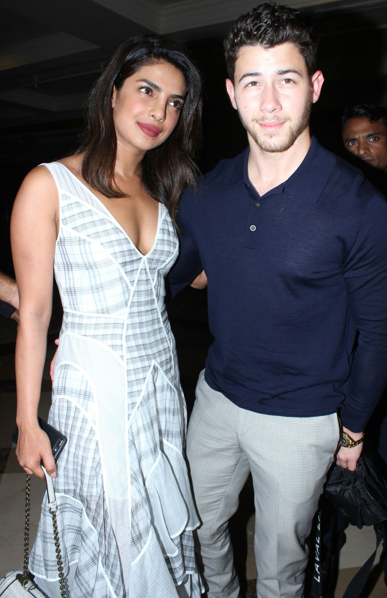 Priyanka Chopra and Nick Jonas seen out on dinner date at JW Marriott, Mumbai