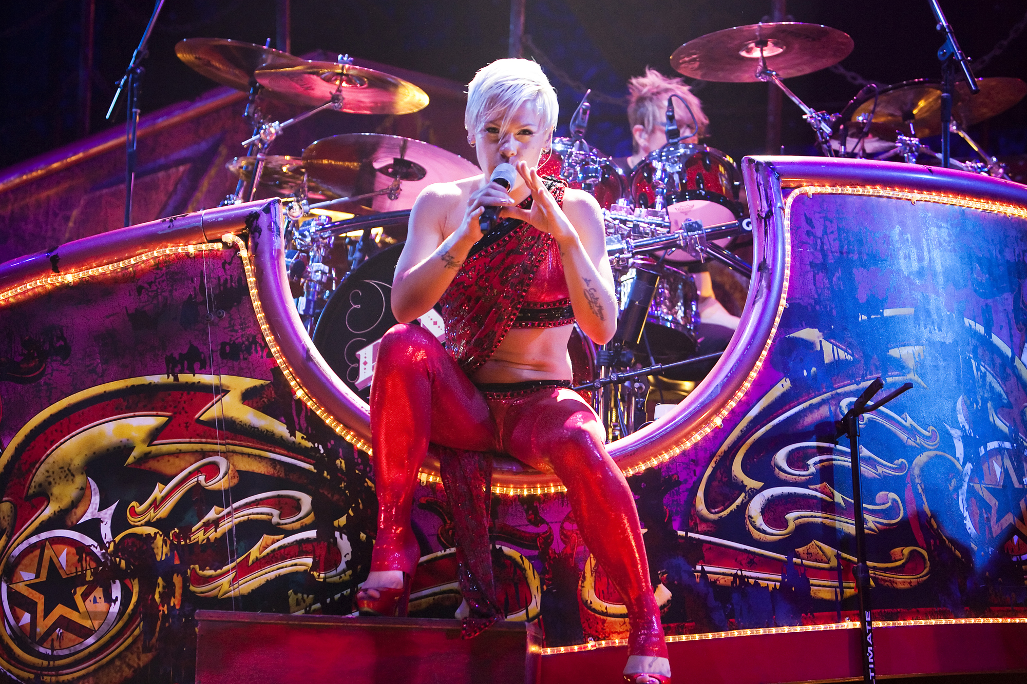 Pink Performs At The O2 Arena In London