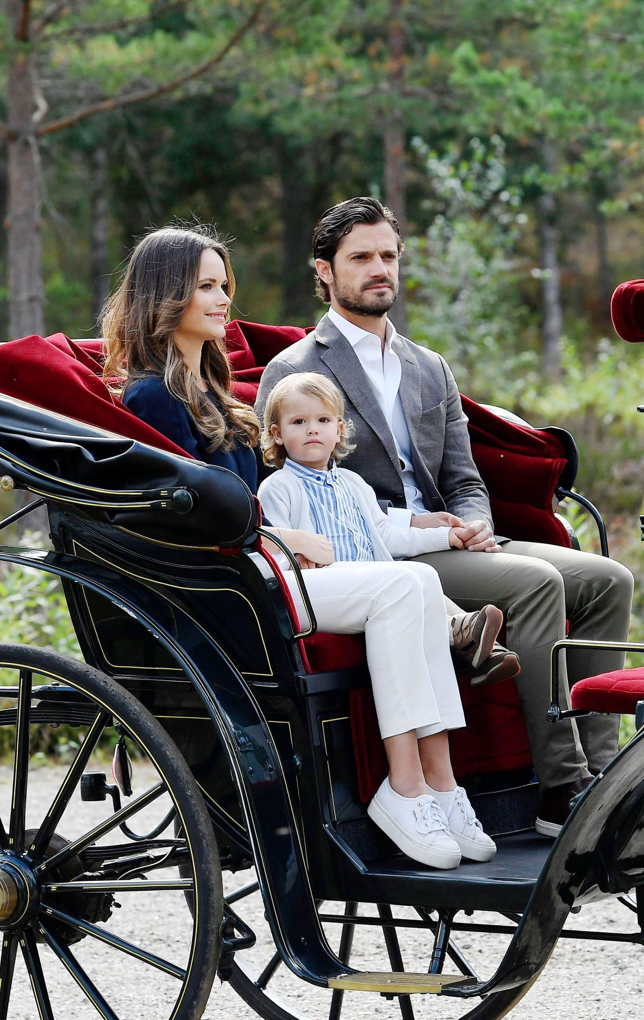 Princess Sofia of sweden and Prince Carl Philip visit the Nynas Nature Reserve, Sodermanland, Sweden - 23 Aug 2018