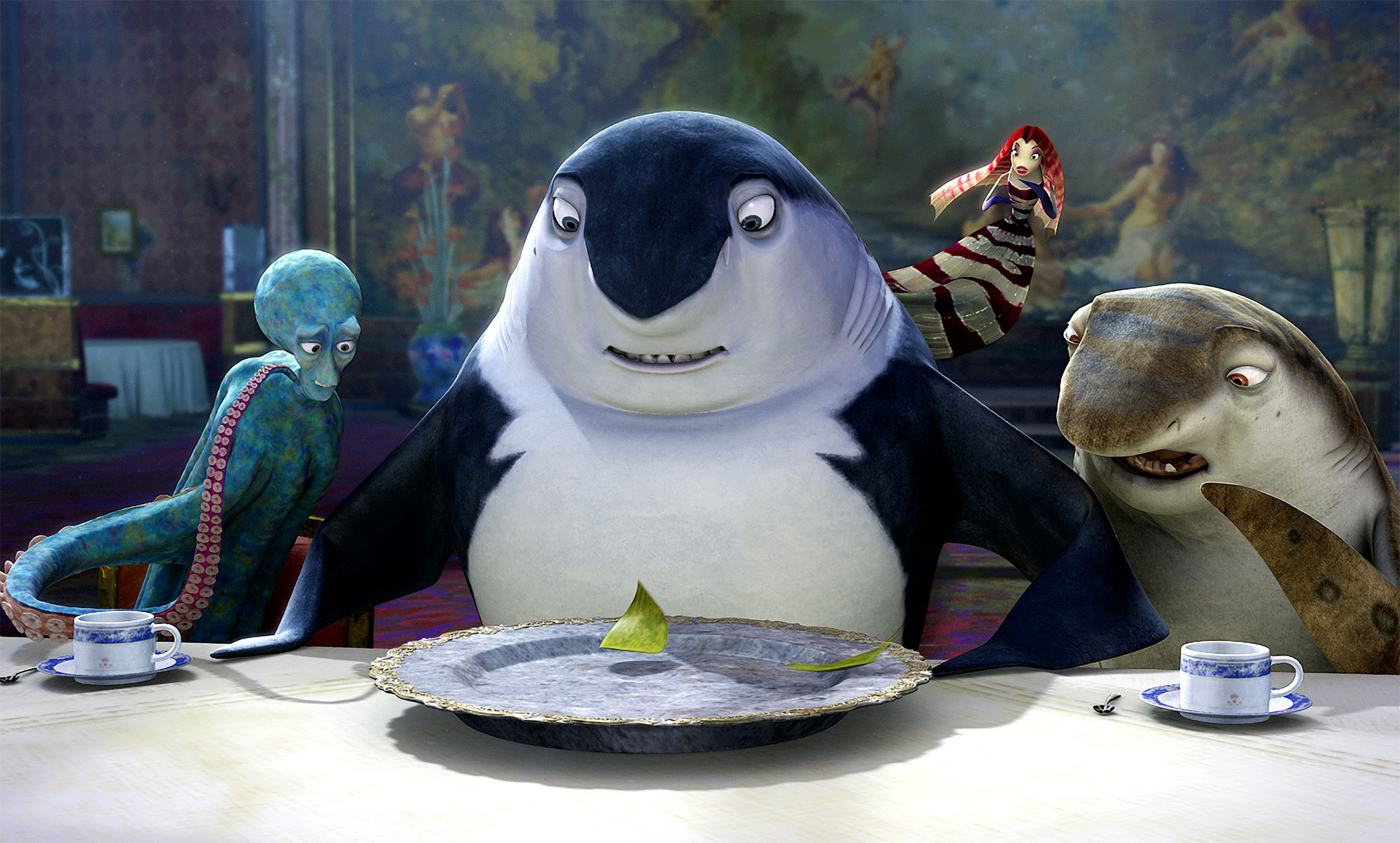 SHARK TALE, Luca, Don Lino, Lola, Don Feinberg, 2004, (c) DreamWorks/courtesy Everett Collection