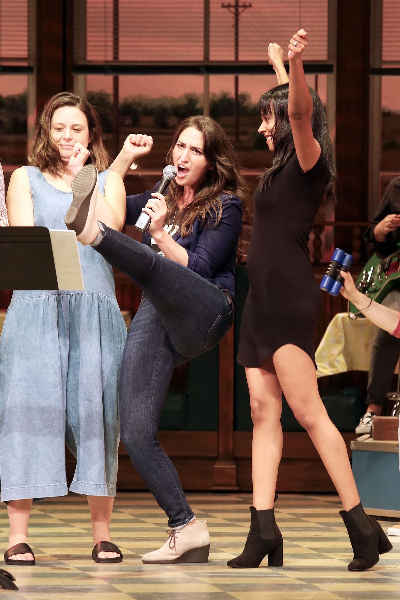 Sara Bareilles and Nicolette Robinson Host Cast Album Karaoke at Waitress The Musical