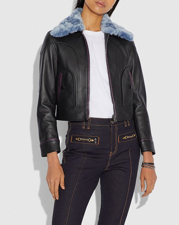 selenaxcoach leather jacket