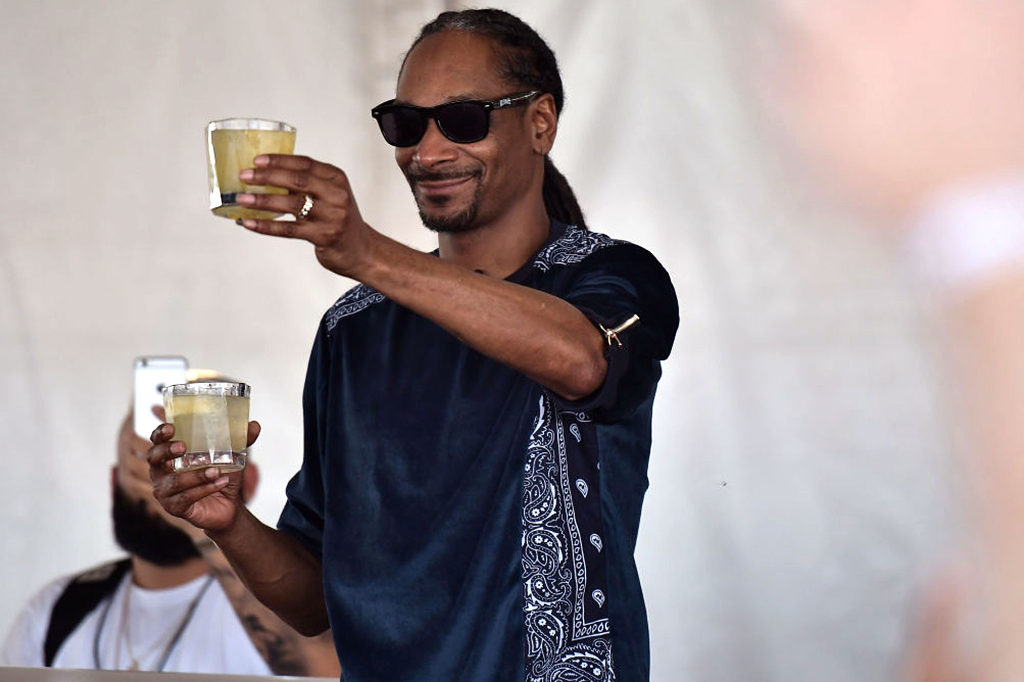 MIAMI BEACH, FL - FEBRUARY 25: Snoop Dogg attends Goya Foods' Grand Tasting Village Featuring Mastercard Grand Tasting Tents & KitchenAid Culinary Demonstrations on February 25, 2017 in Miami Beach, Florida. (Photo by Gustavo Caballero/Getty Images for SOBEWFF)