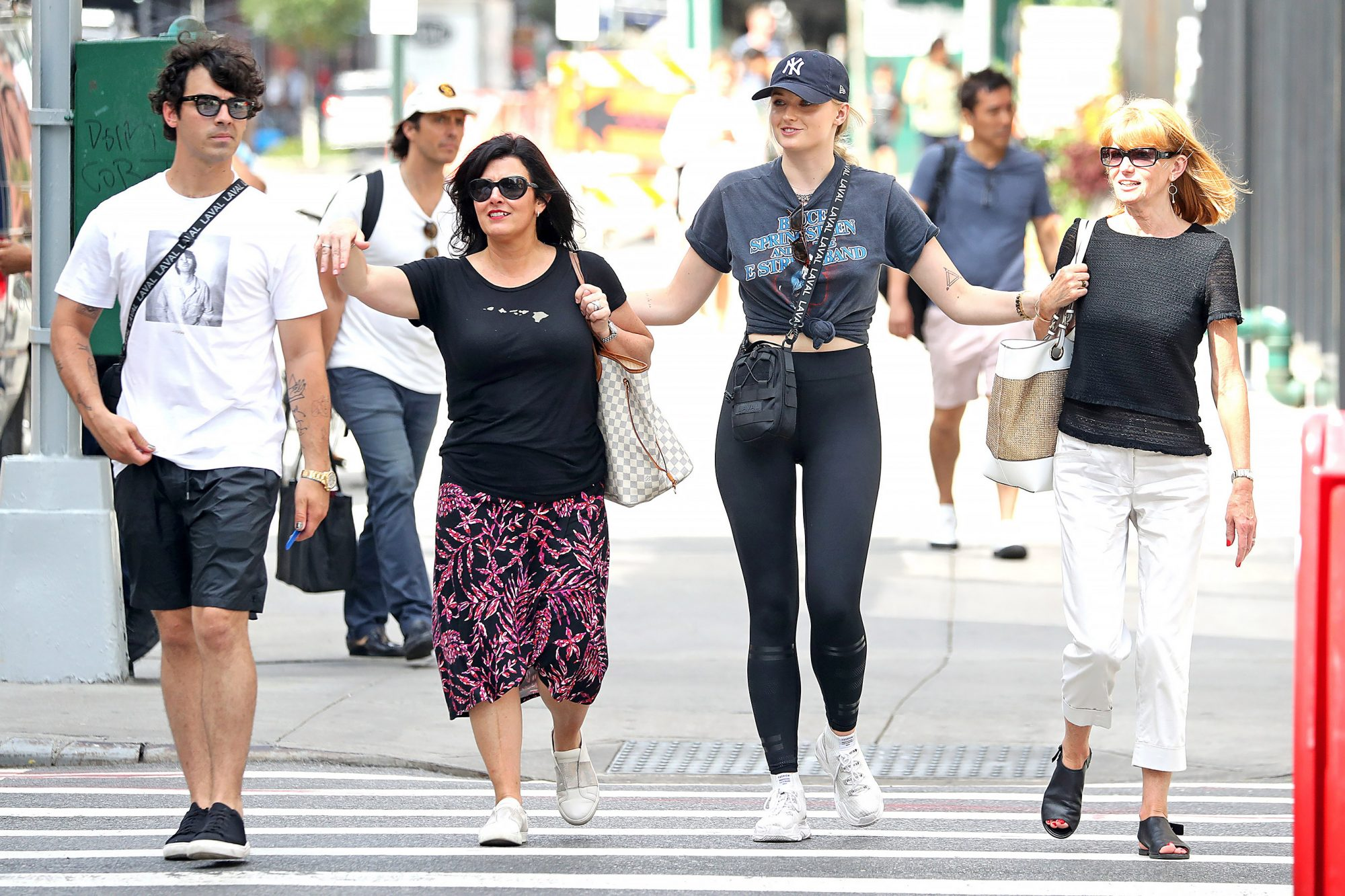 Joe Jonas and Sophie Turner take both their mothers out to lunch, NYC