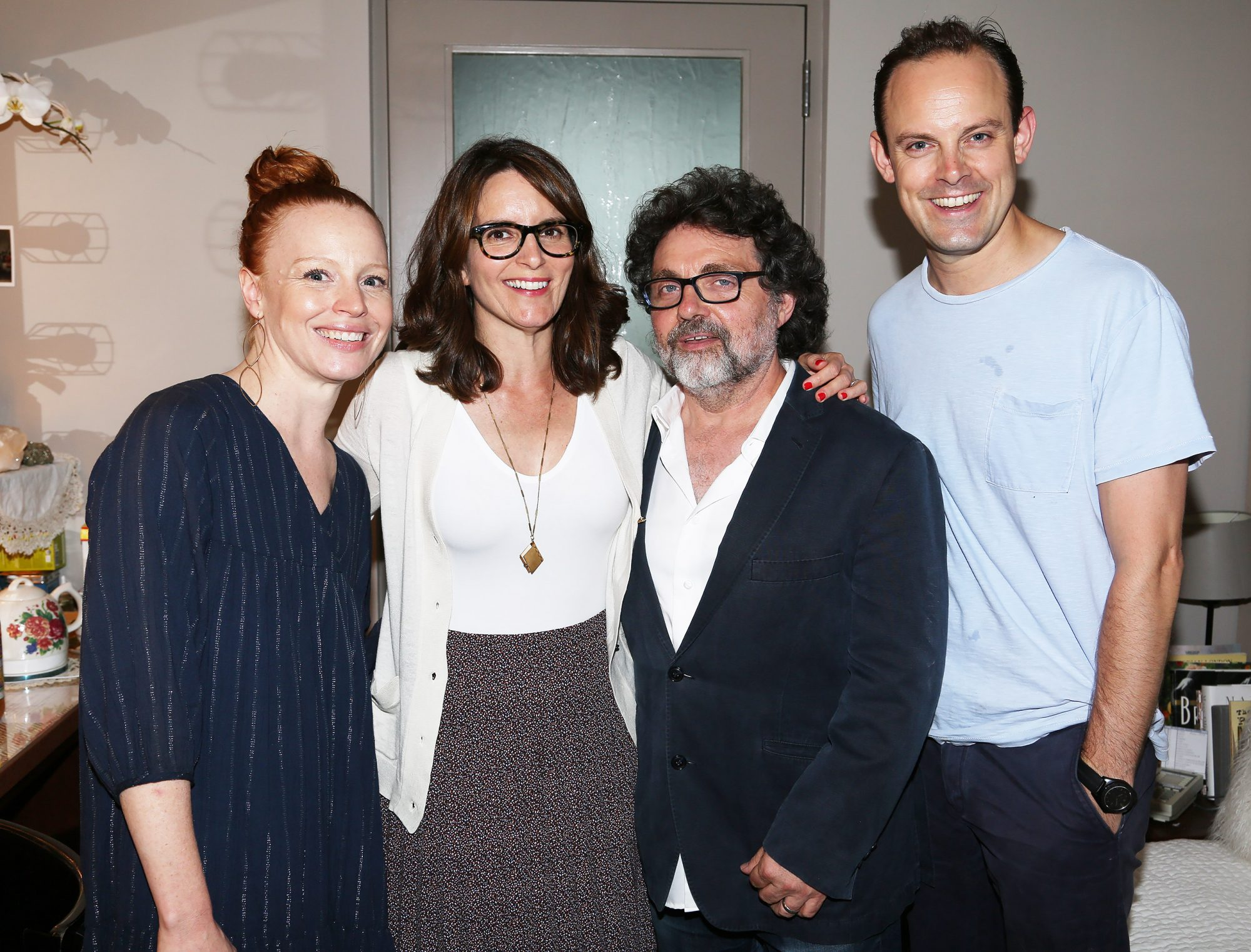 Tina Fey Visits Lauren Ambrose and Harry Hadden-Paton Backstage at My Fair Lady