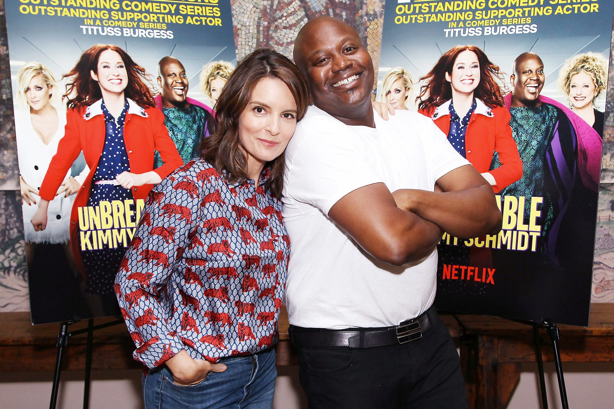 Unbreakable Kimmy Schmidt: Conversation with Tina Fey and Tituss Burgess, New York, USA - 14 Aug 2018
