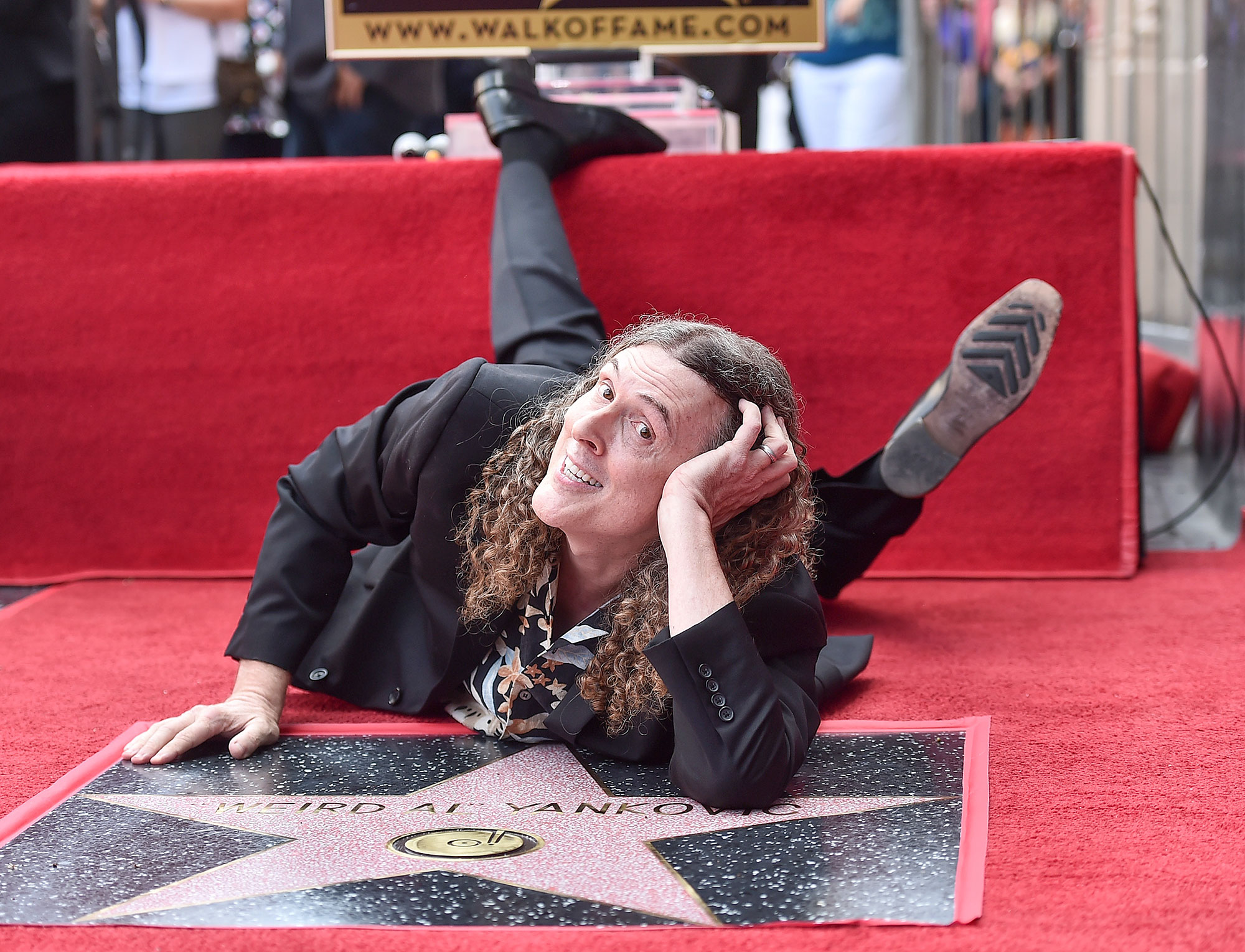 """""""Weird Al"""" Yankovic Honored With Star On The Hollywood Walk Of Fame"""