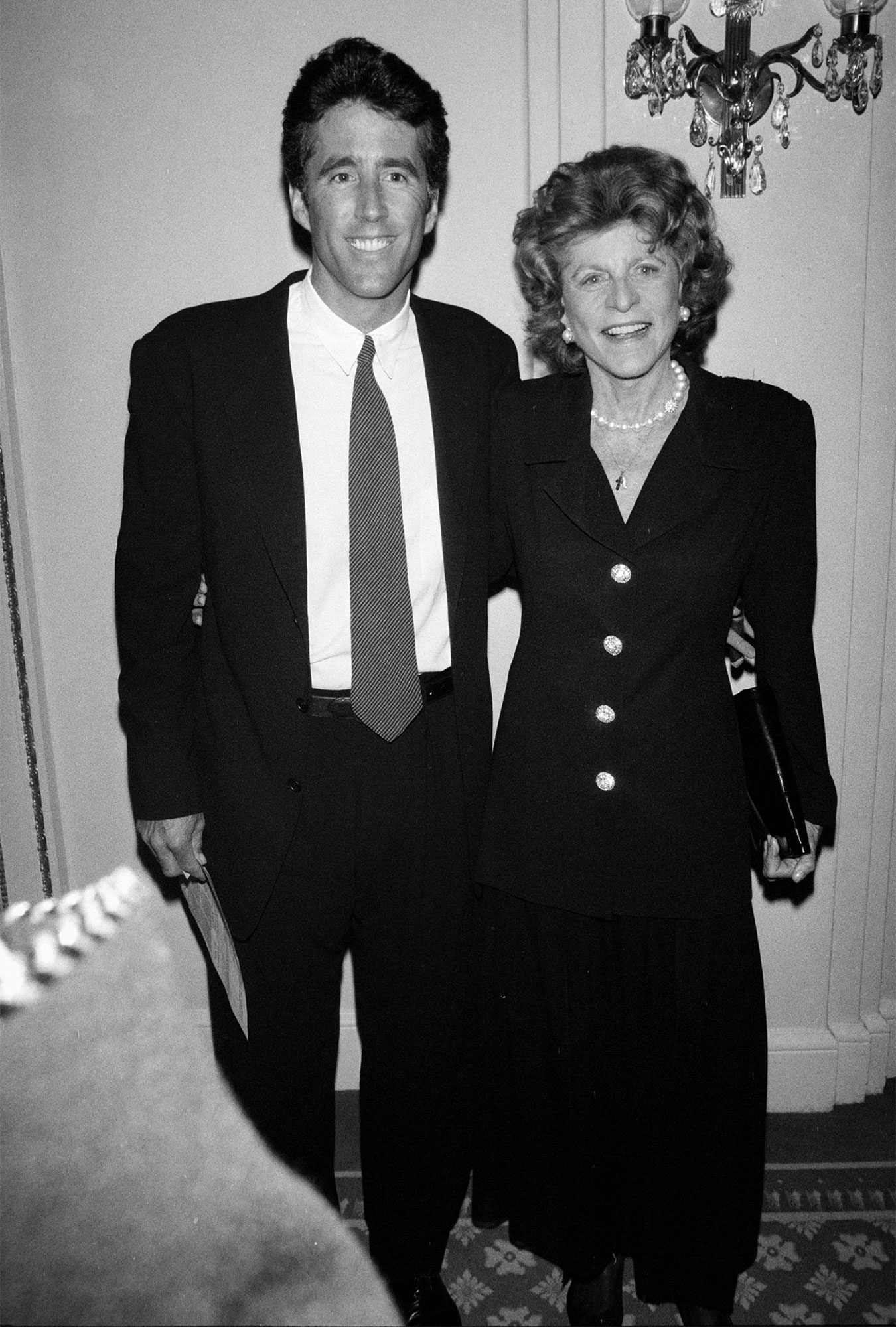 Patricia Kennedy Lawford and Christopher Lawford