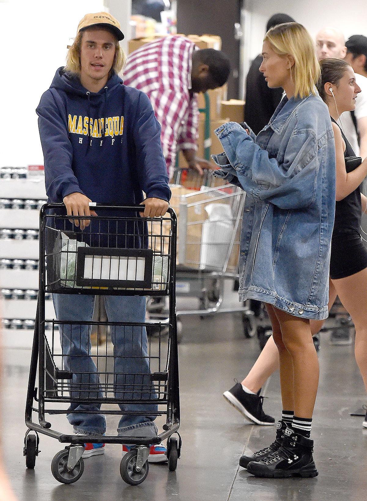 Justin Bieber and fiancee,Hailey Baldwin shop at Whole Foods in New York City