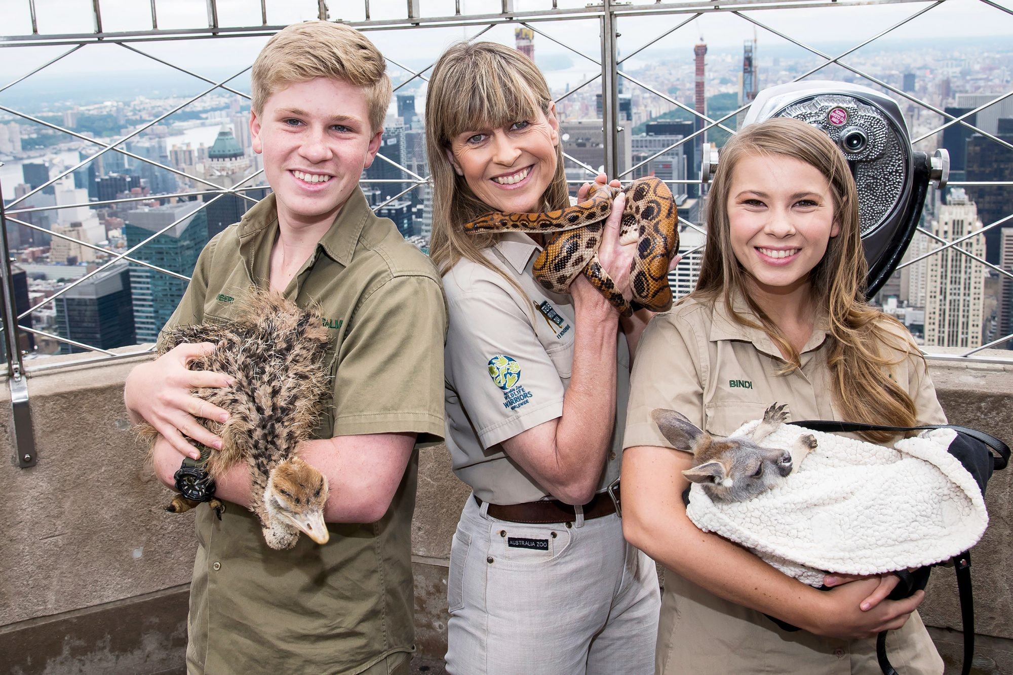 Terri, Bindi and Robert Irwin Visit the Empire State Building, New York, USA - 20 Sep 2018