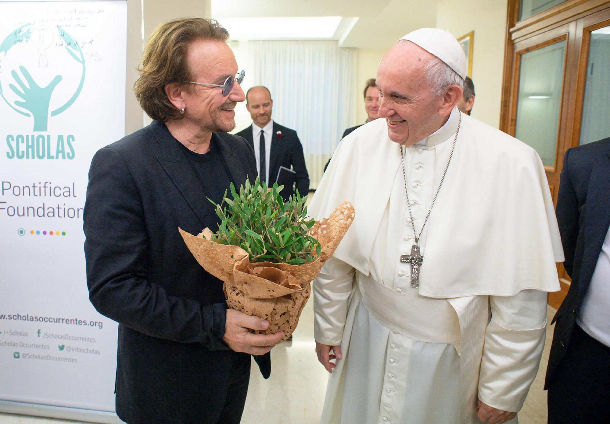 Pope Francis meets Bono Vox, Vatican City, Vatican City State (Holy See) - 19 Sep 2018