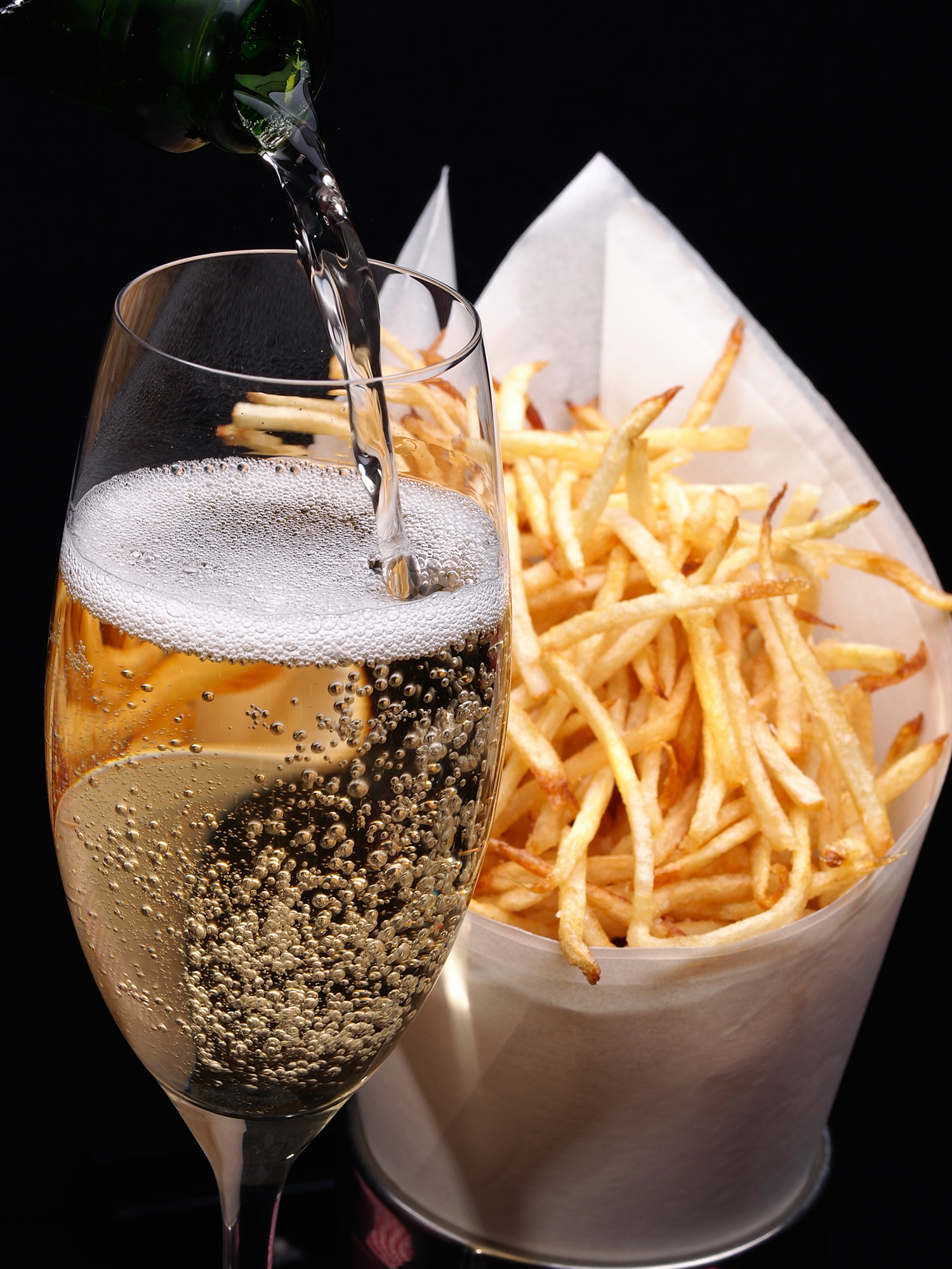 Champagne and Fries (food pairing)