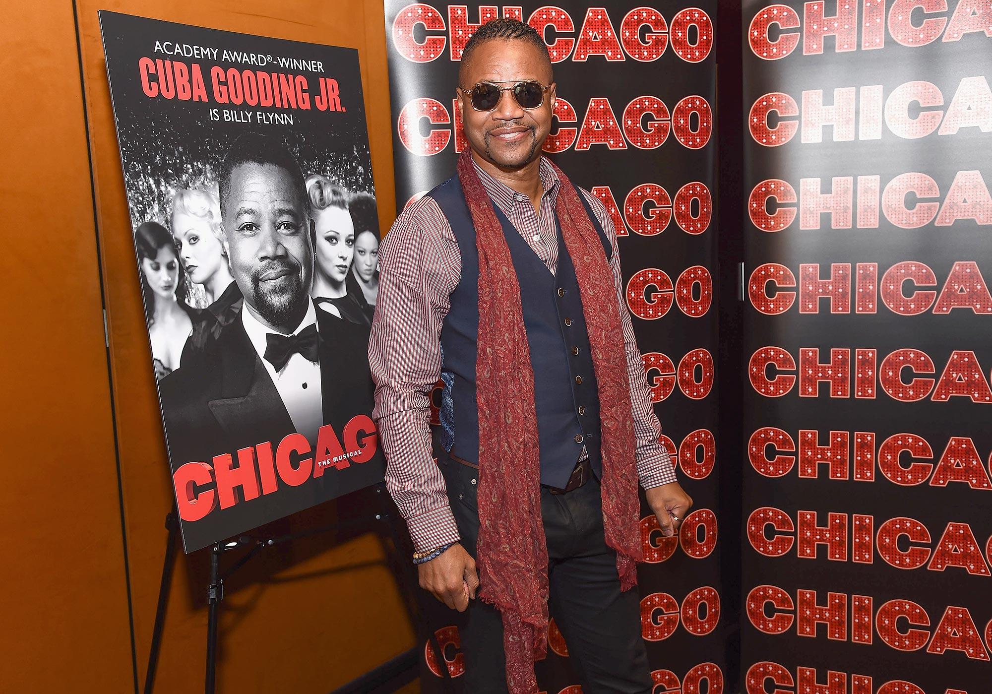 """Cuba Gooding Jr. Celebrates His Return To """"Chicago"""" On Broadway"""