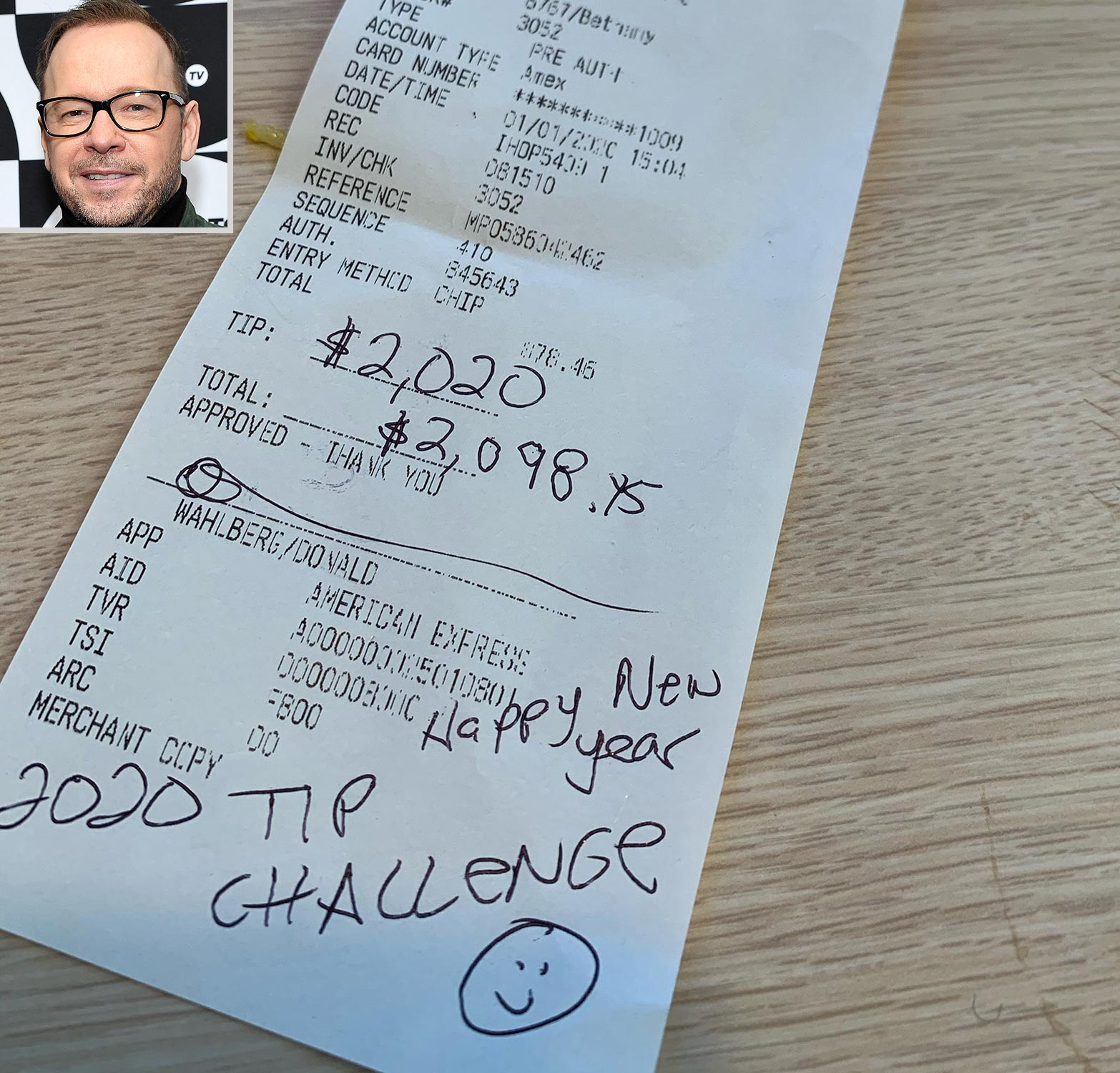 Donnie Wahlberg $2K Tipping