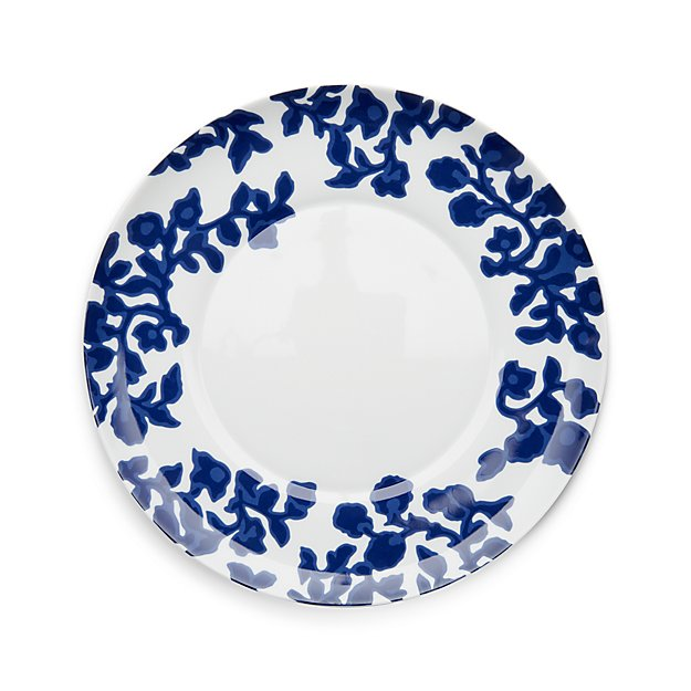 Indigo Vine Dinner Plate from Crate and Barrel