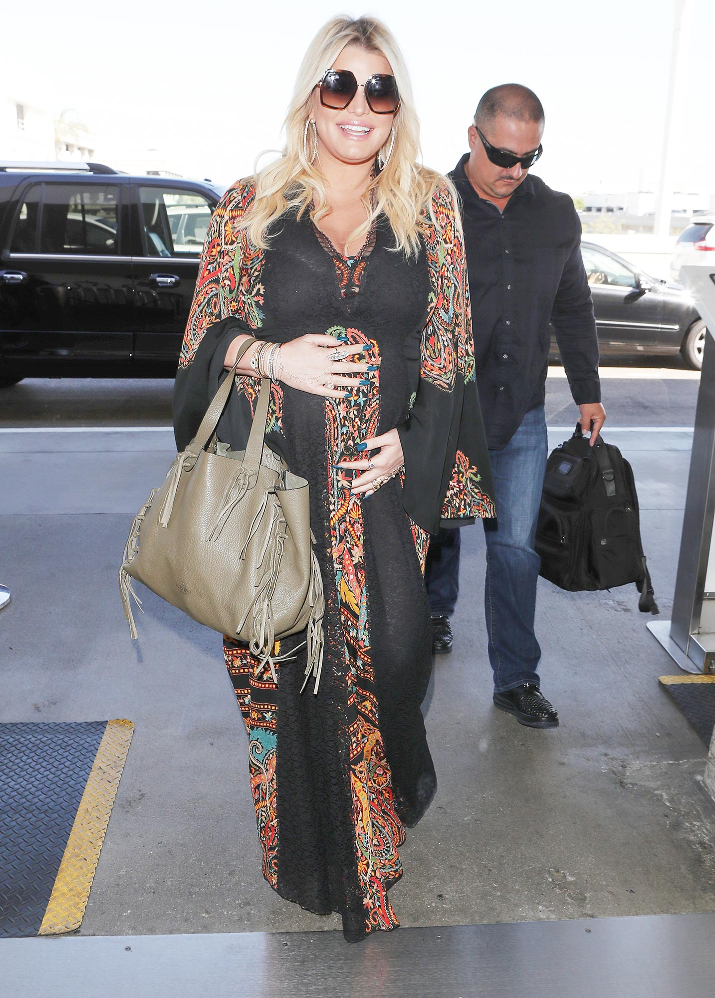 Jessica Simpson Arrives At LAX Airport In Los Angeles