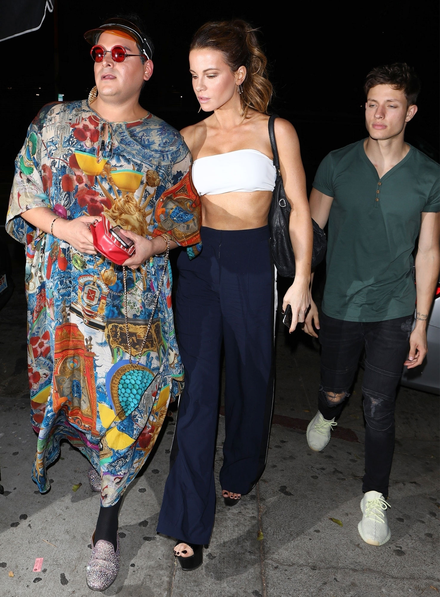 Kate Beckinsale and boyfriend Matt Rife arrive at Dave Chappelle's comedy show in WeHo