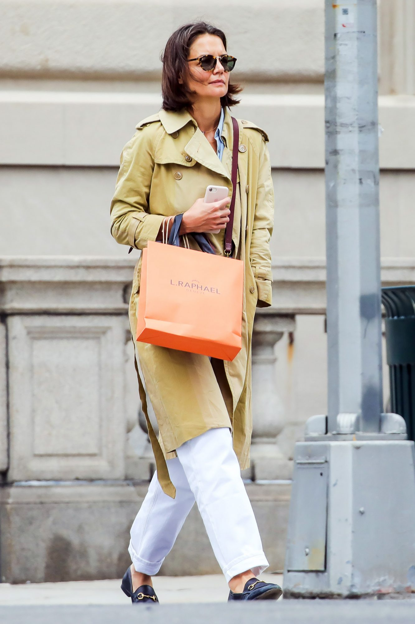 EXCLUSIVE: Katie Holmes Spotted Walking On Madison Avenue In NYC