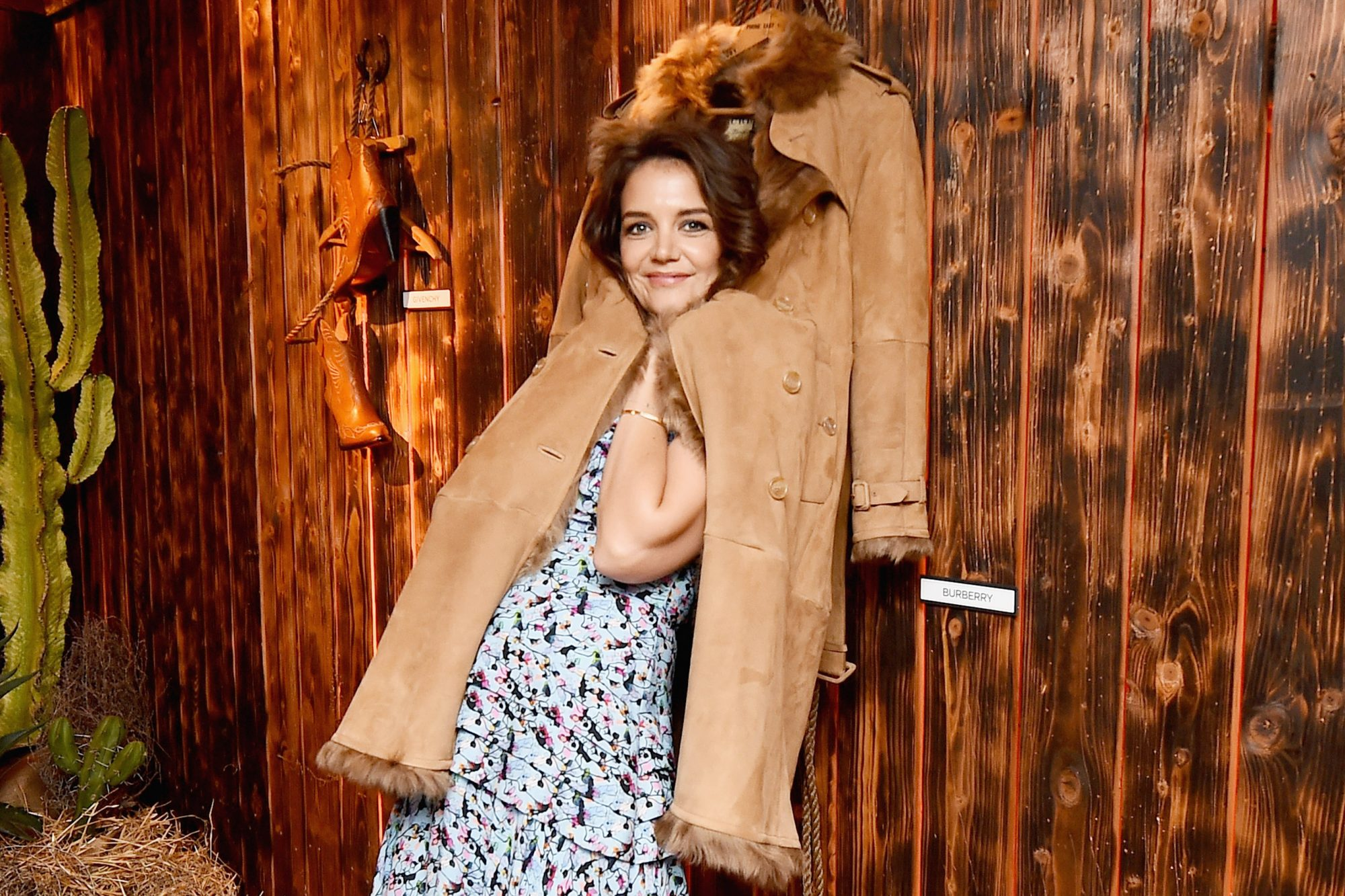 Glenda Bailey And Katie Holmes Host The Launch Of The Saks IT List Townhouse In Partnership With American Express And Harper's BAZAAR