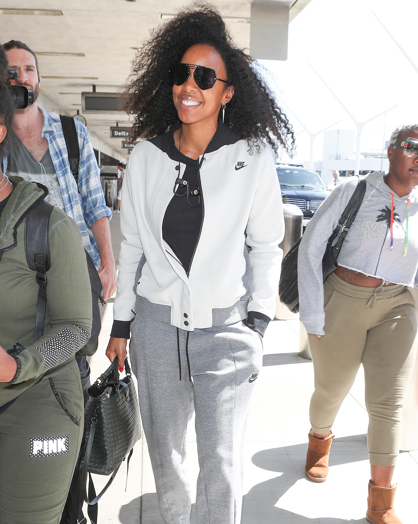 Kelly Rowland is Pictured Arriving at LAX Airport in Los Angeles.