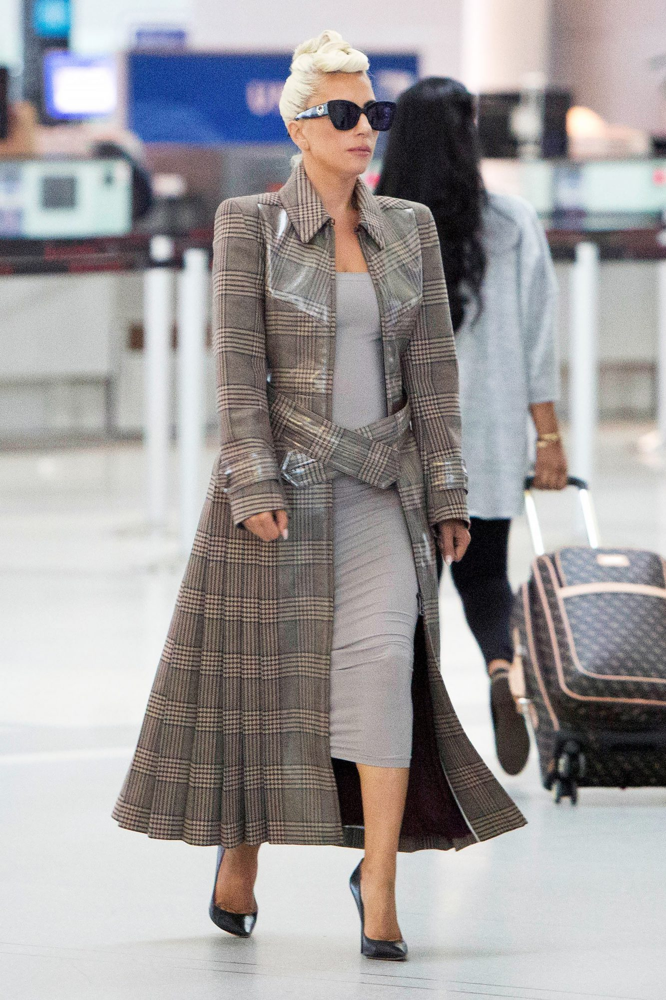 EXCLUSIVE: Lady Gaga is Spotted Arriving to an Airport in Toronto