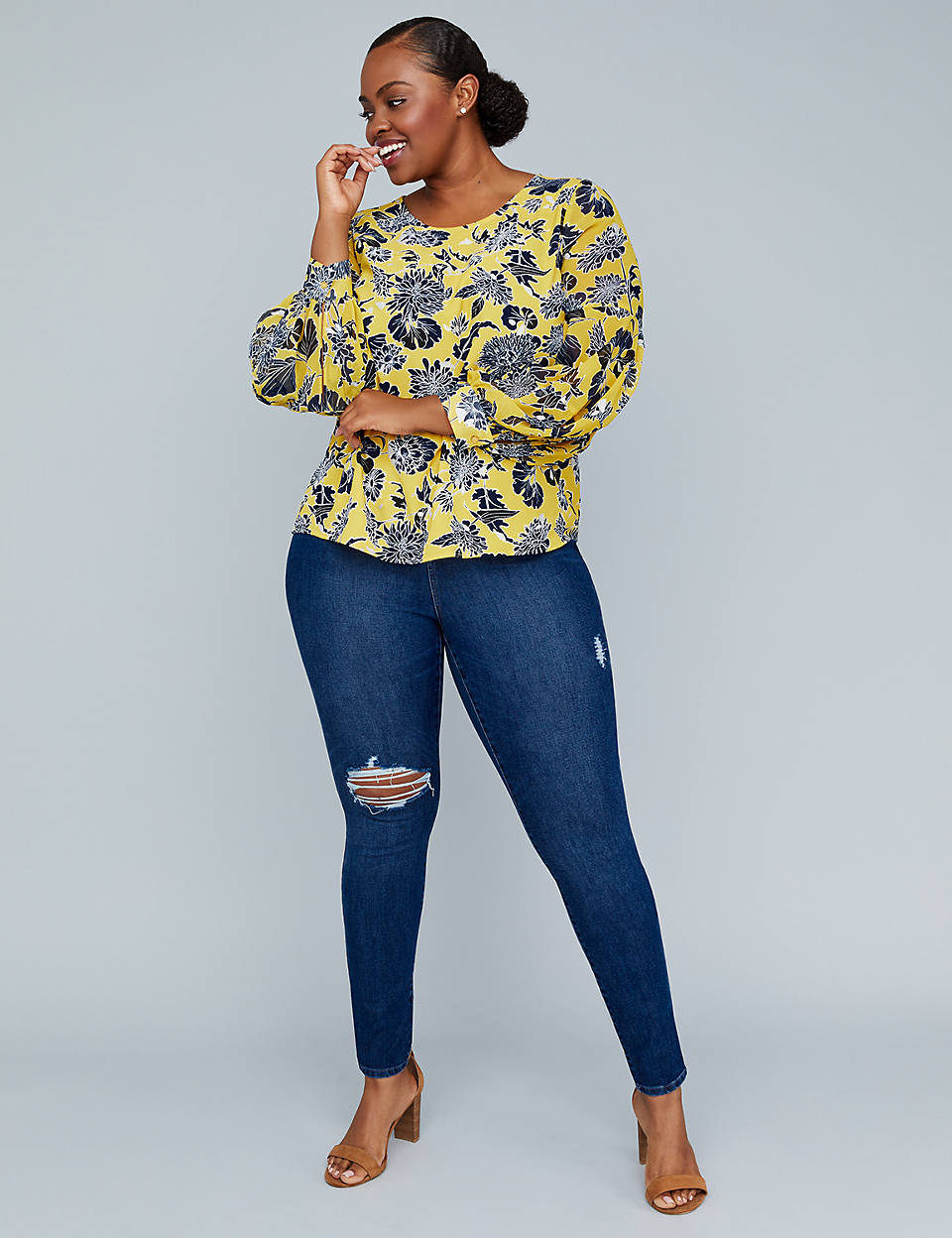 lane bryant girl with curves jeans