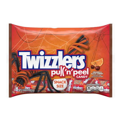 NEWTwizzlers Pull And Peel Candy Orange And Black Cherry Snack Size_Front