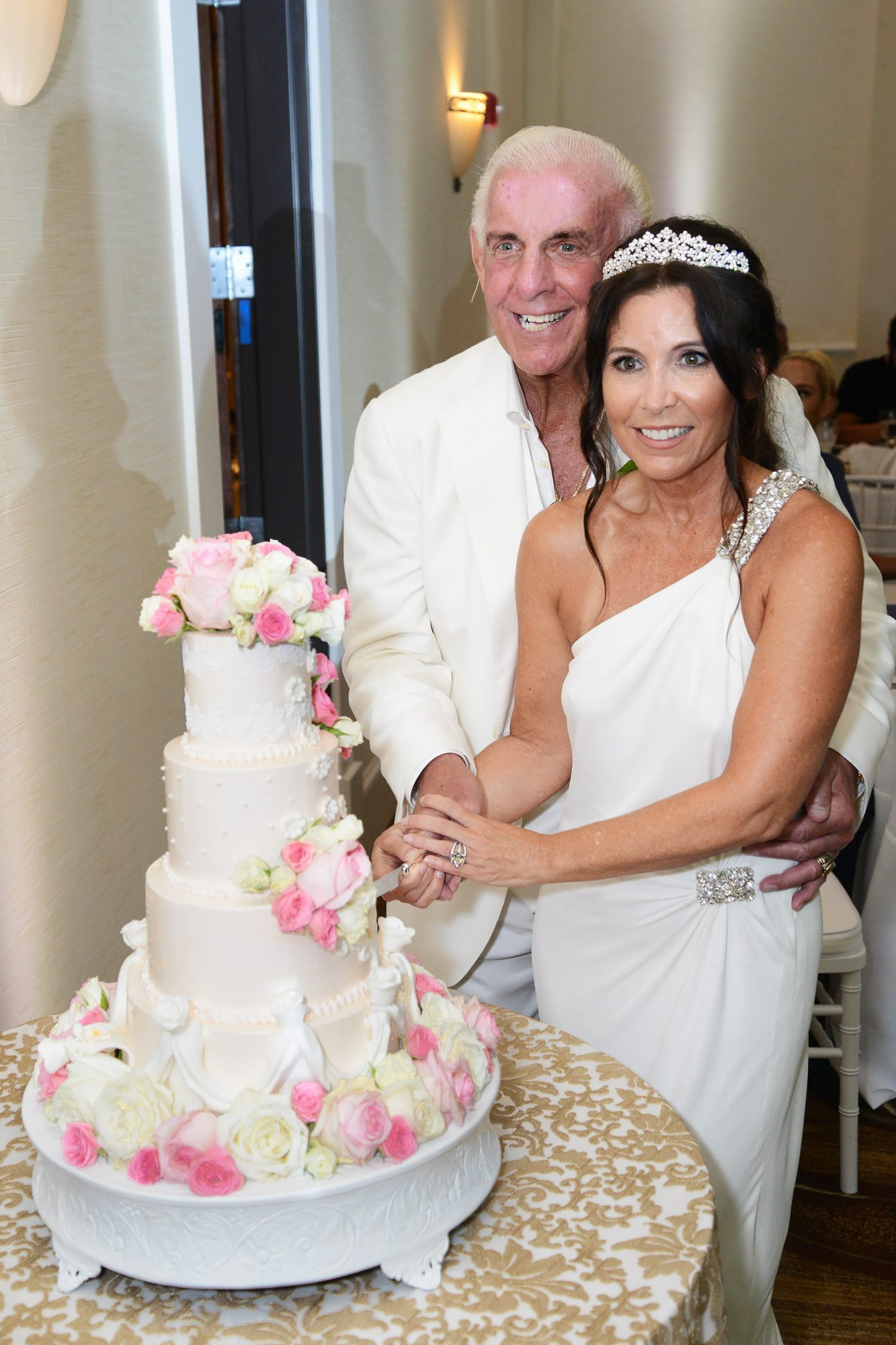 EXCLUSIVE: Ric Flair Weds Wendy Barlow at The Pearl Hotel in Rosemary Beach, Florida.