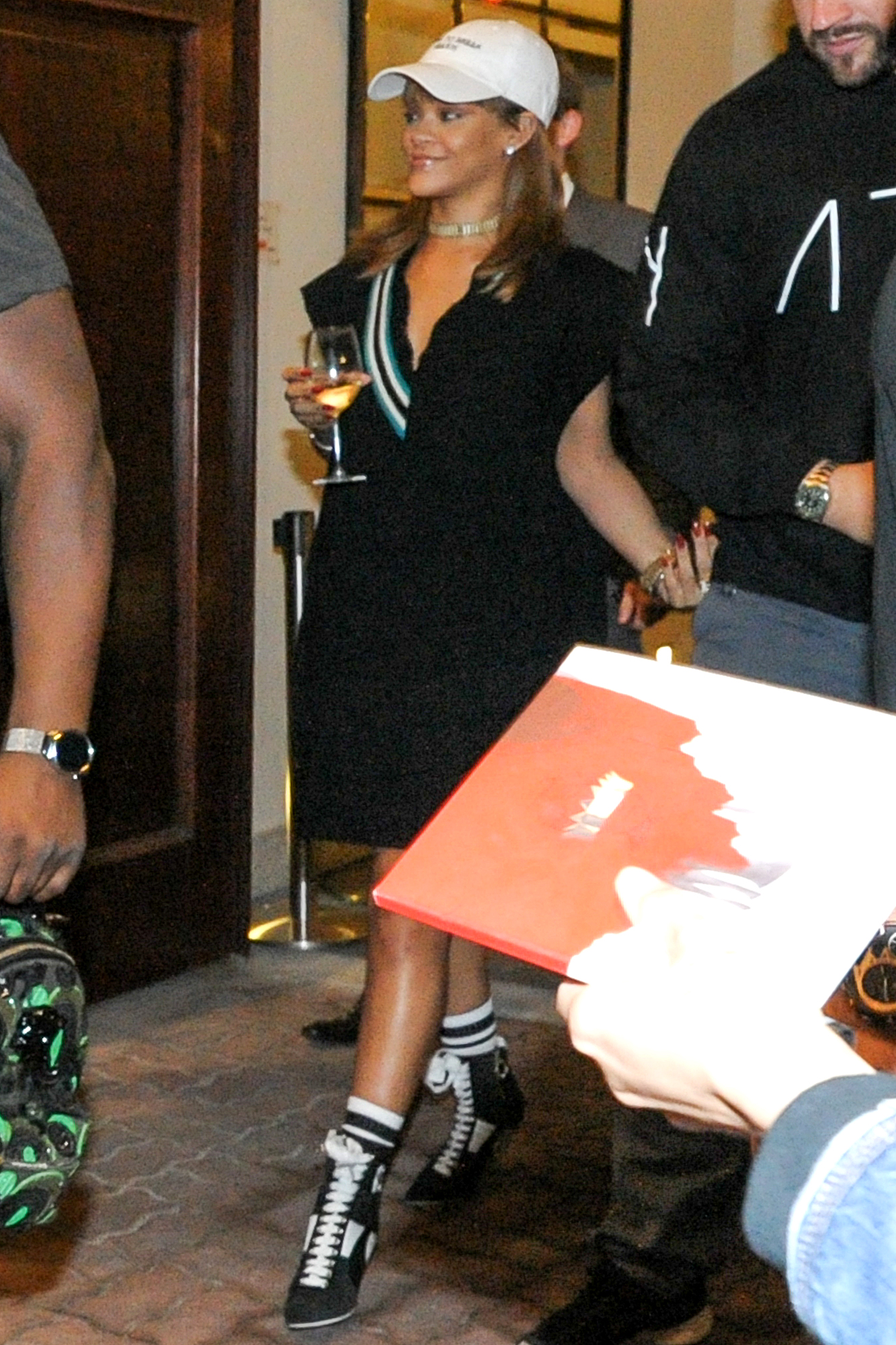 Rihanna Arrives At Her Hotel In Warsaw