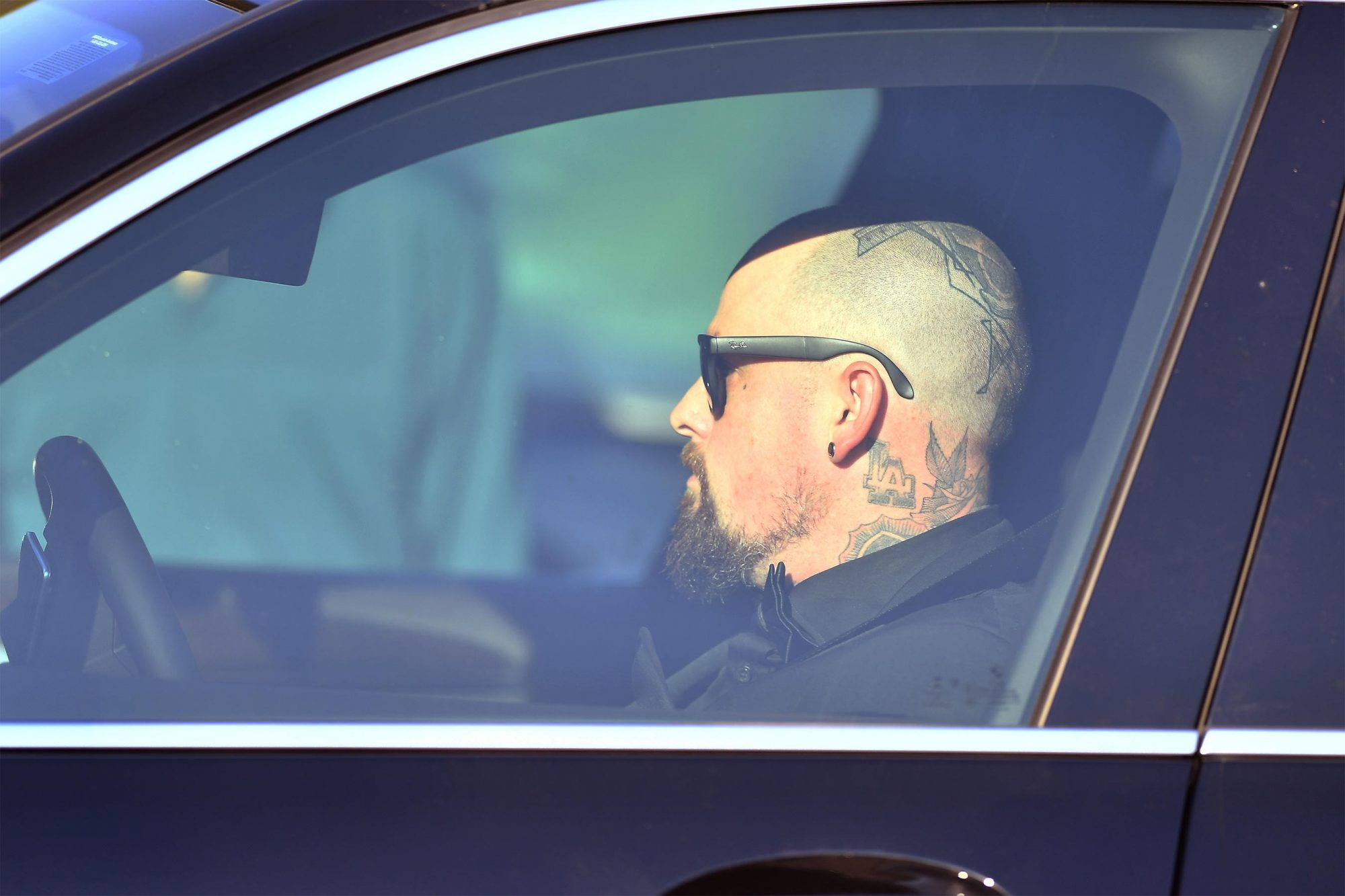 Benji Madden arriving at Gwyneth Paltrow wedding in the hamptons